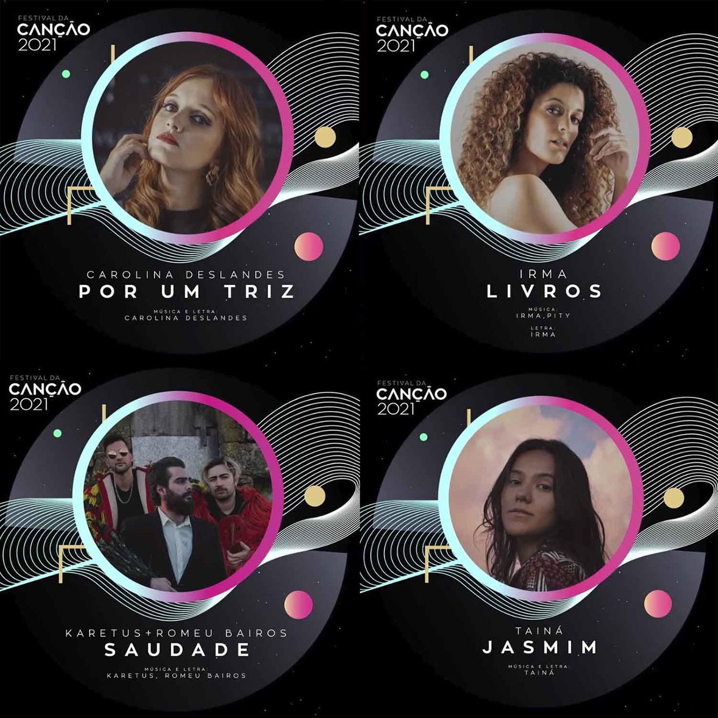 Conhecidas canções de Carolina Deslandes, Irma, Karetus e Tainá para o Festival da Canção 2021