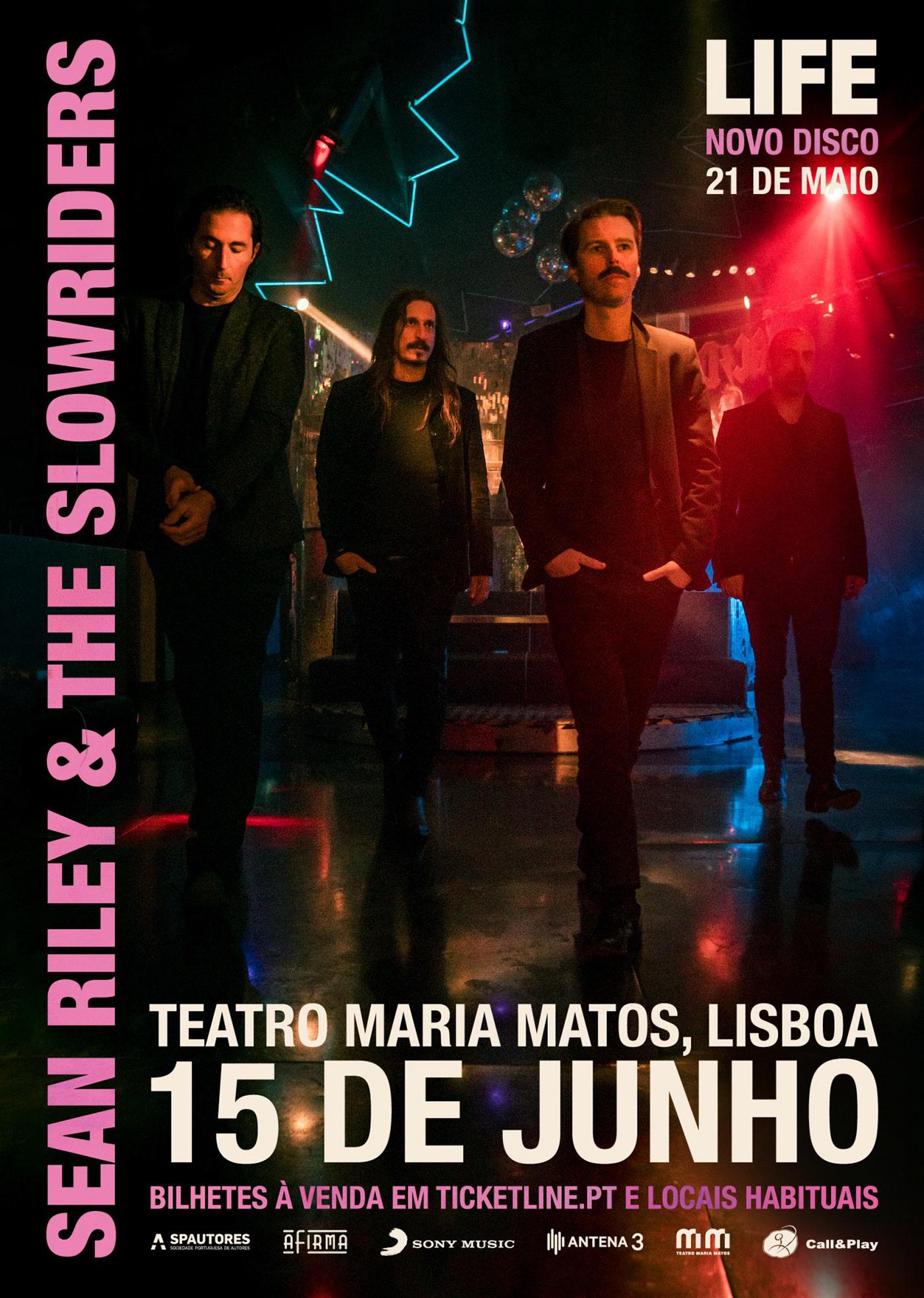 """SEAN RILEY & THE SLOWRIDERS: """"Life"""" chega às lojas a 21 de Maio e ao Maria Matos a 15 de Junho de 2021"""