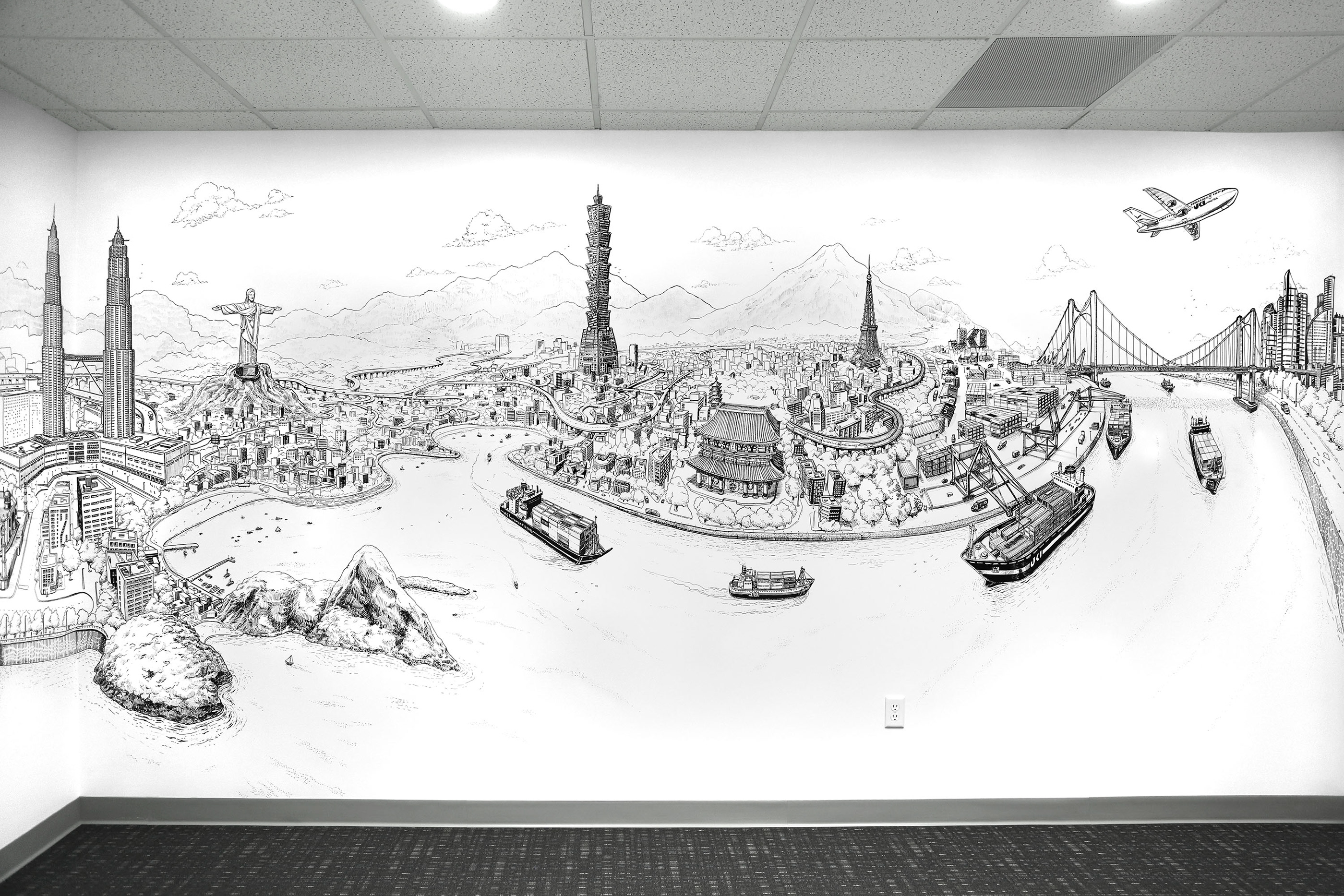 Move the World Mural Drawings by Deck Two