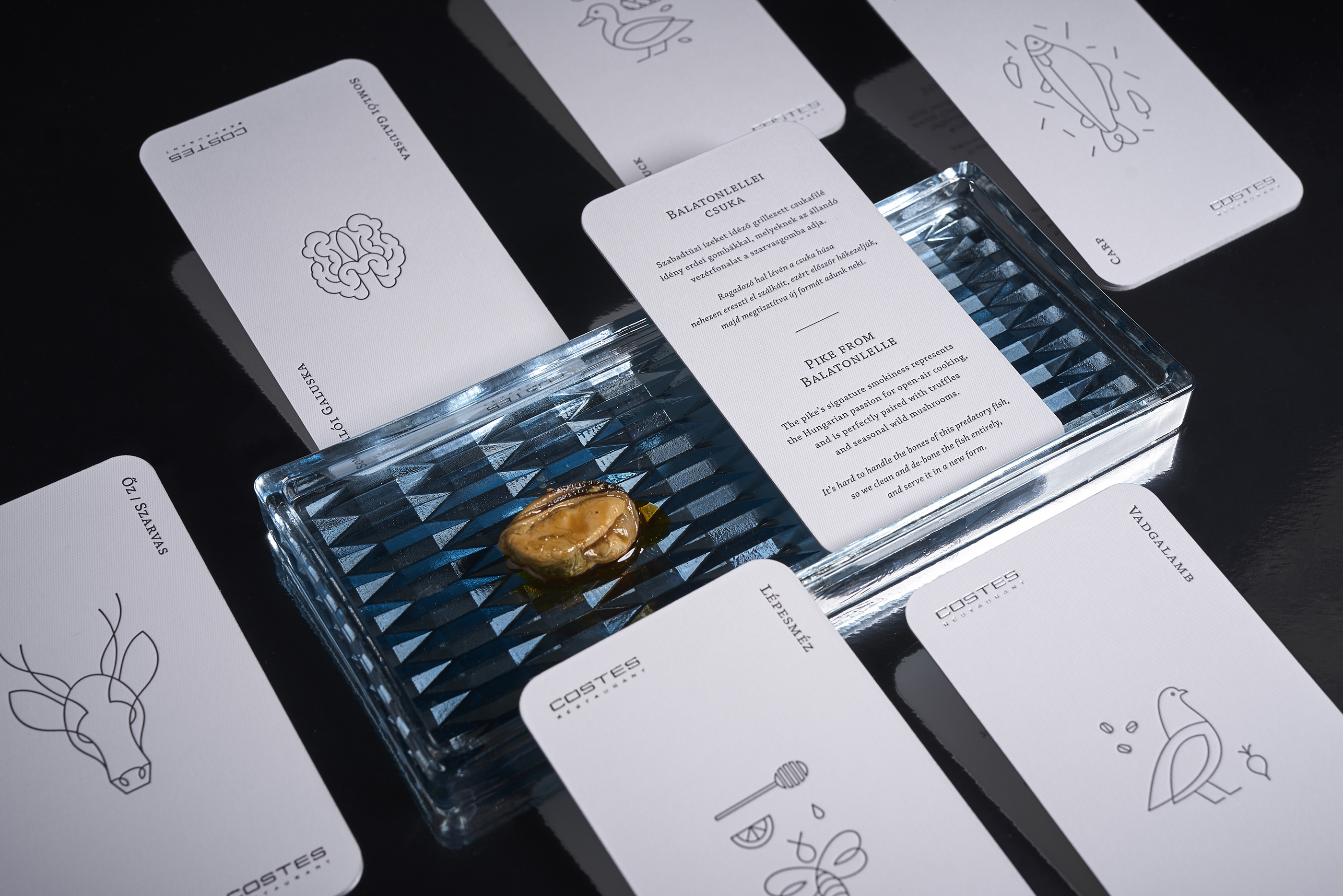 Illustrated Menu Cards For Costes Restaurant By Nur Studio
