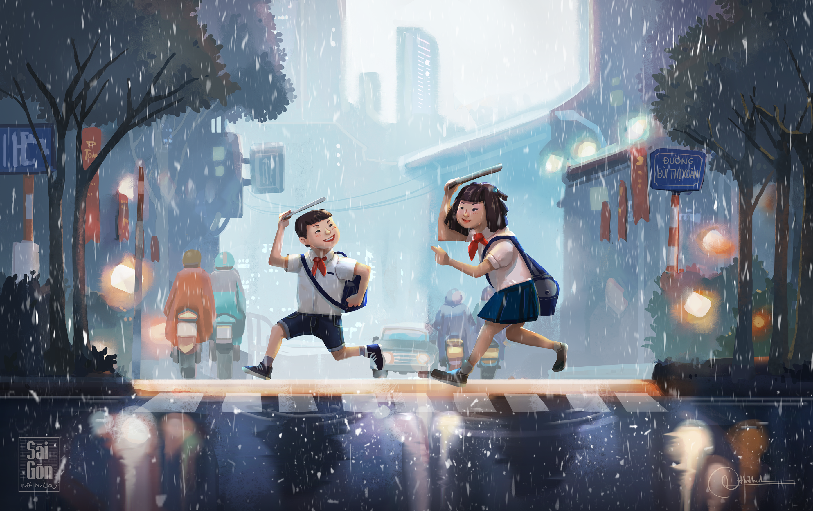 Saigon Rainy Days through Illustrations