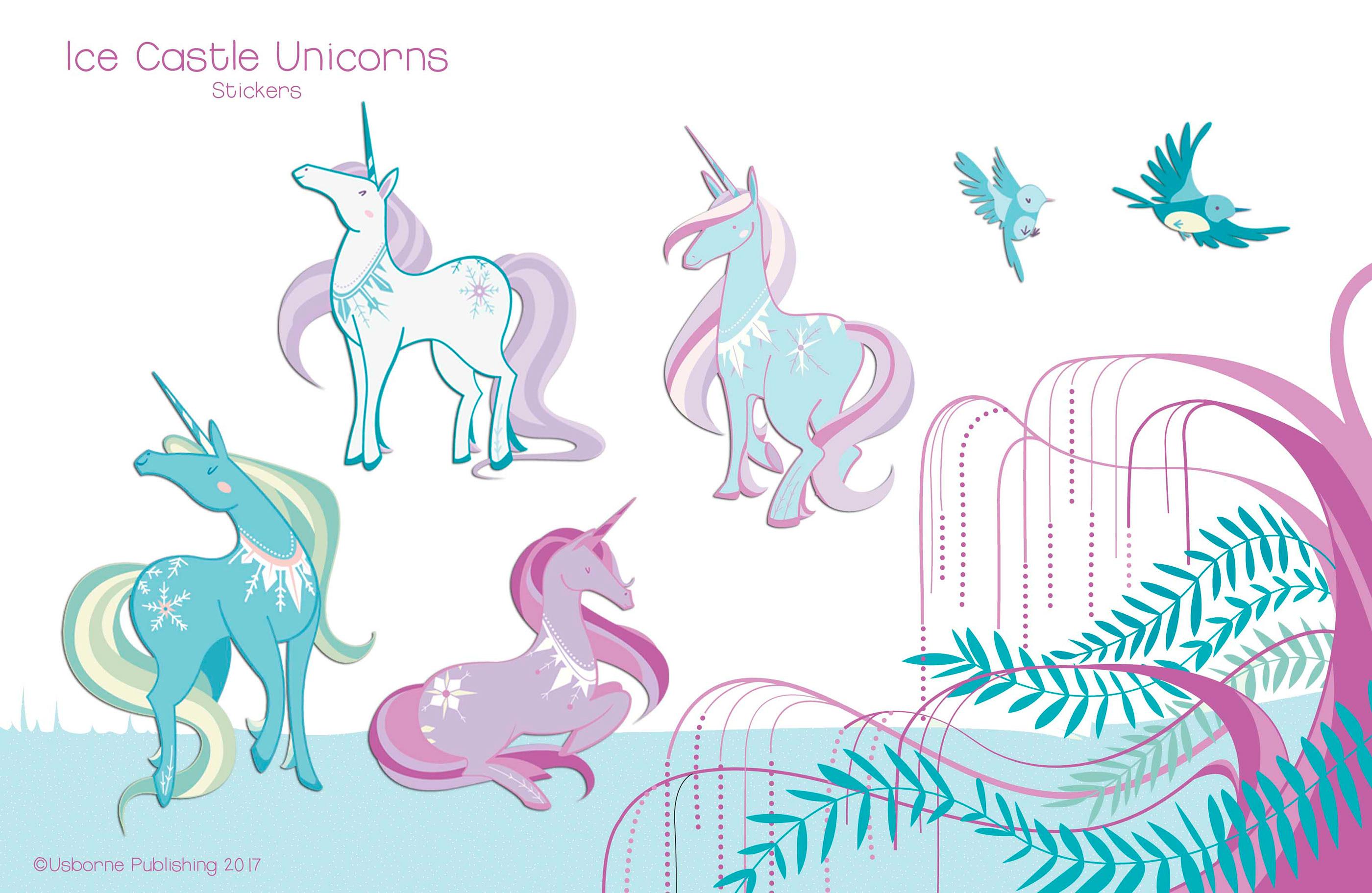 Details about  /Supersoft Unicorn Skeleton Sticker Landscape Landscape Sticker