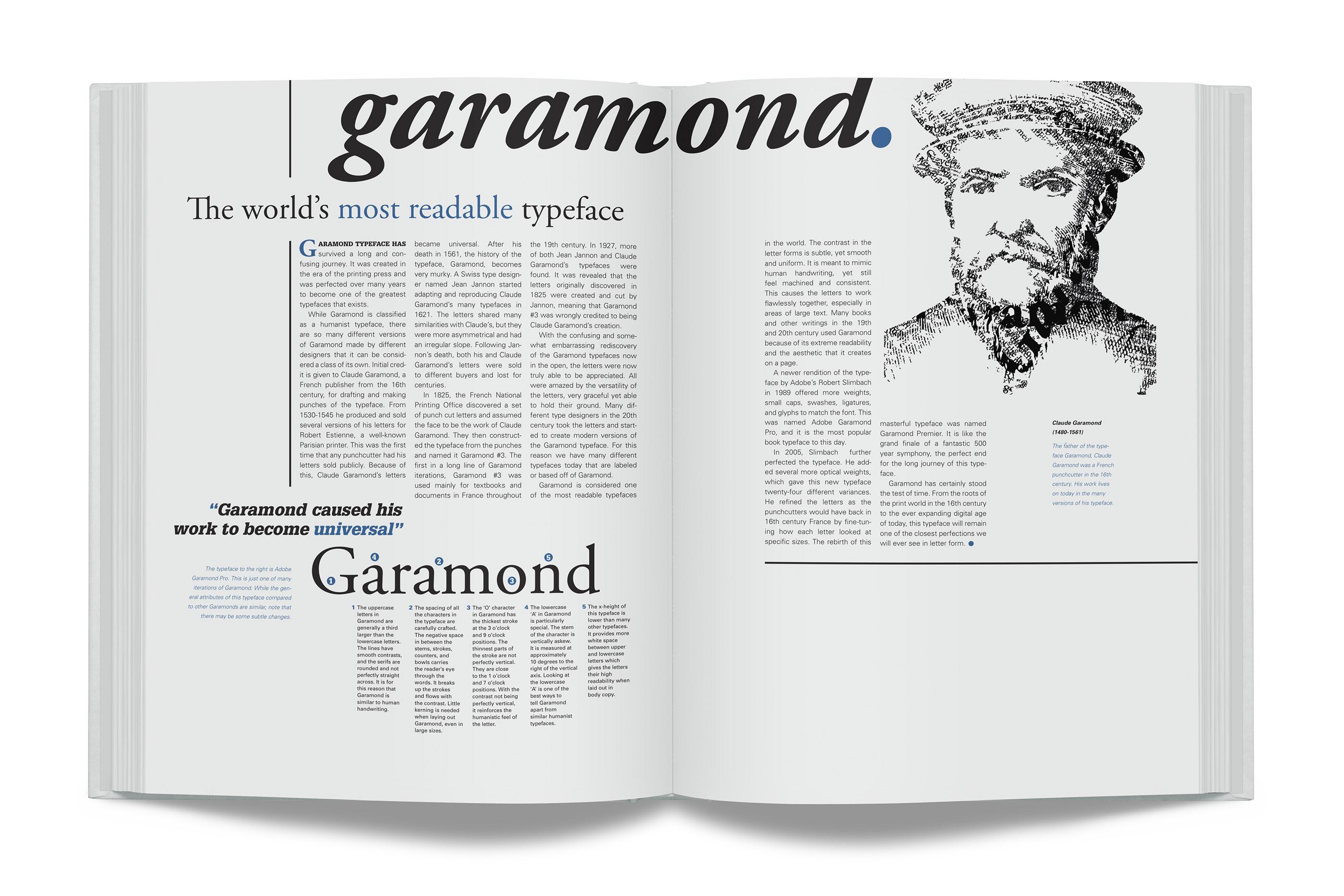 Claude Garamond Face