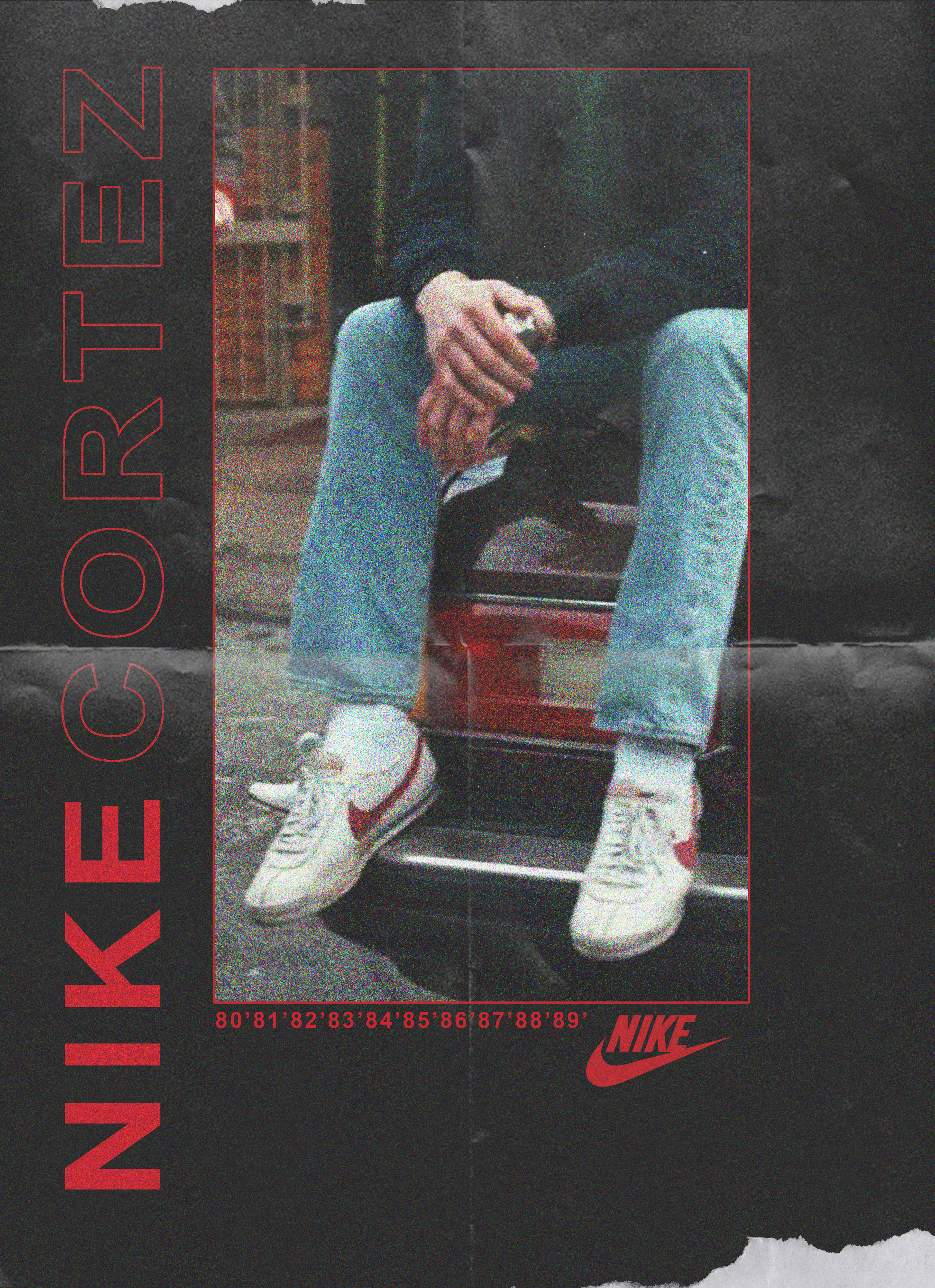 Nike Cortez 1980's Poster Experiment on