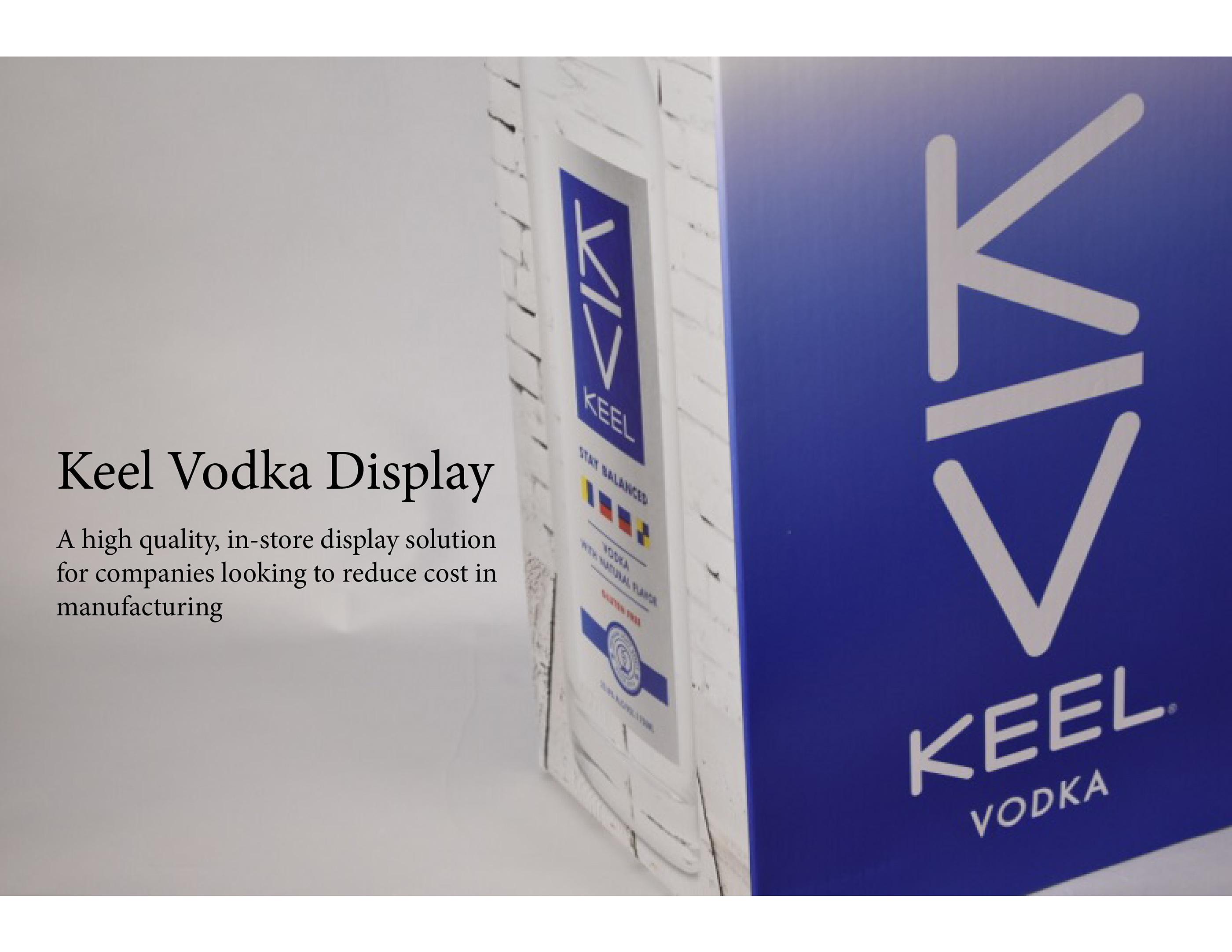Keel Vodka Display Bin on Behance