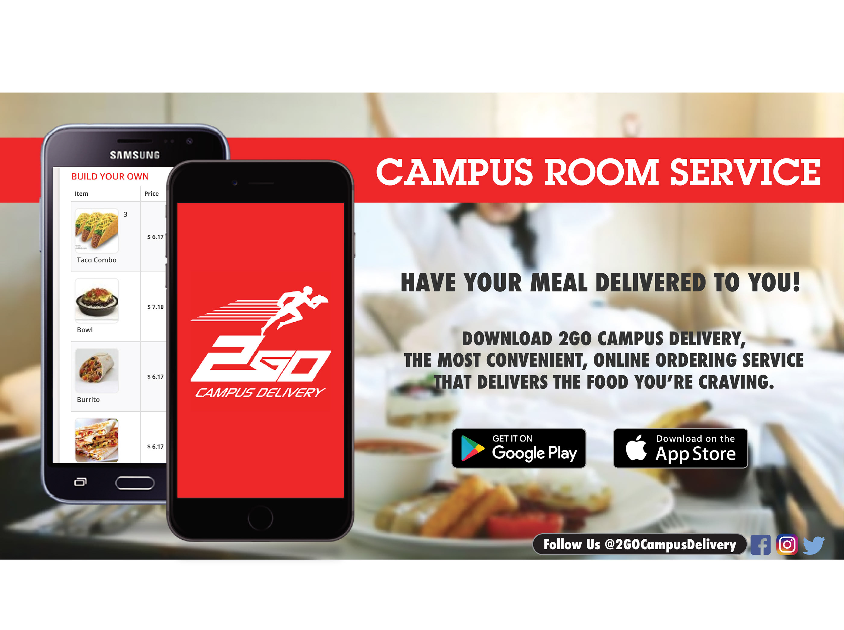 2Go Campus Delivery Newspaper Advertisements on Behance