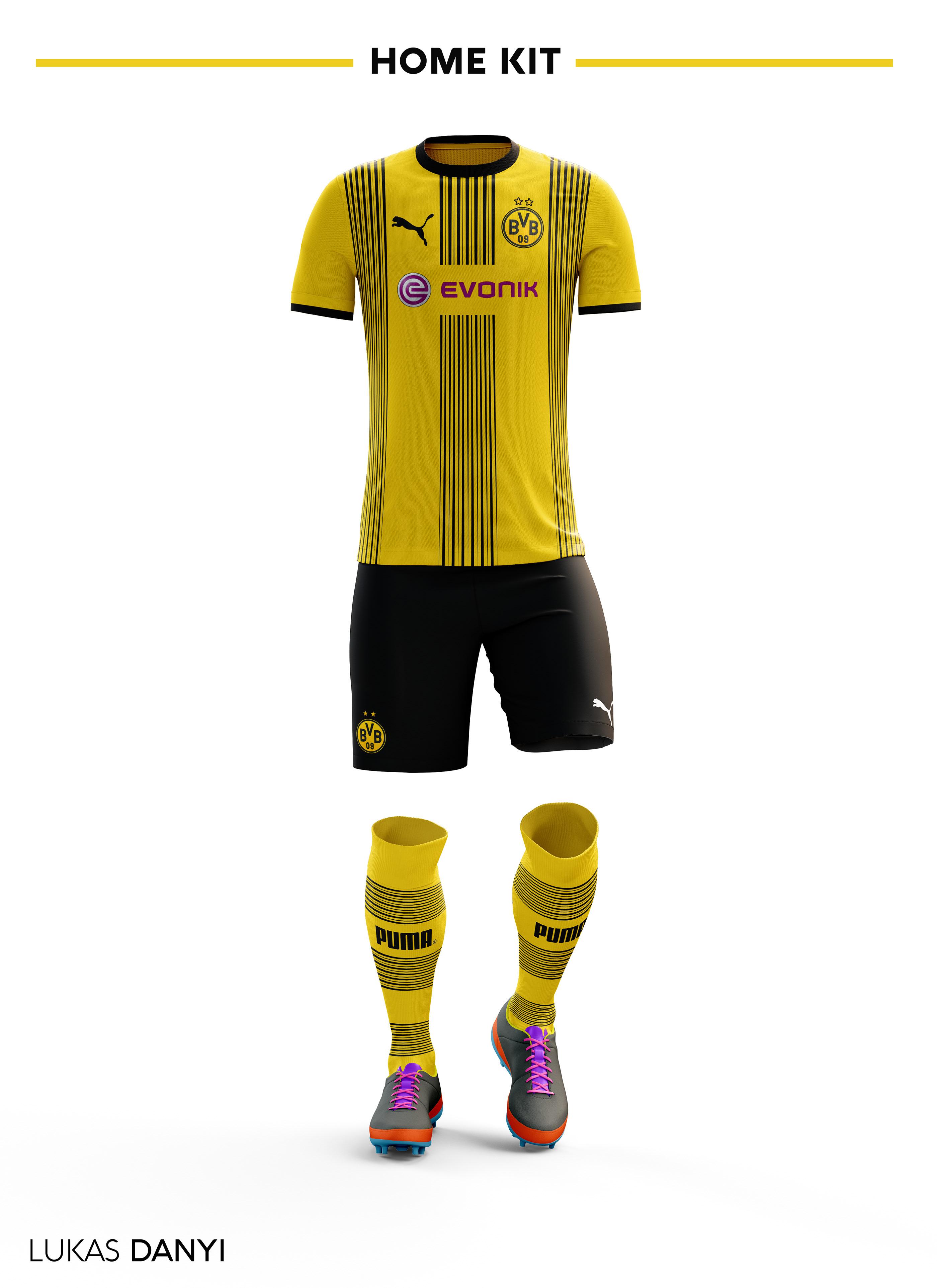 80e504f79 Borussia Dortmund Football Kit 17/18. on Behance