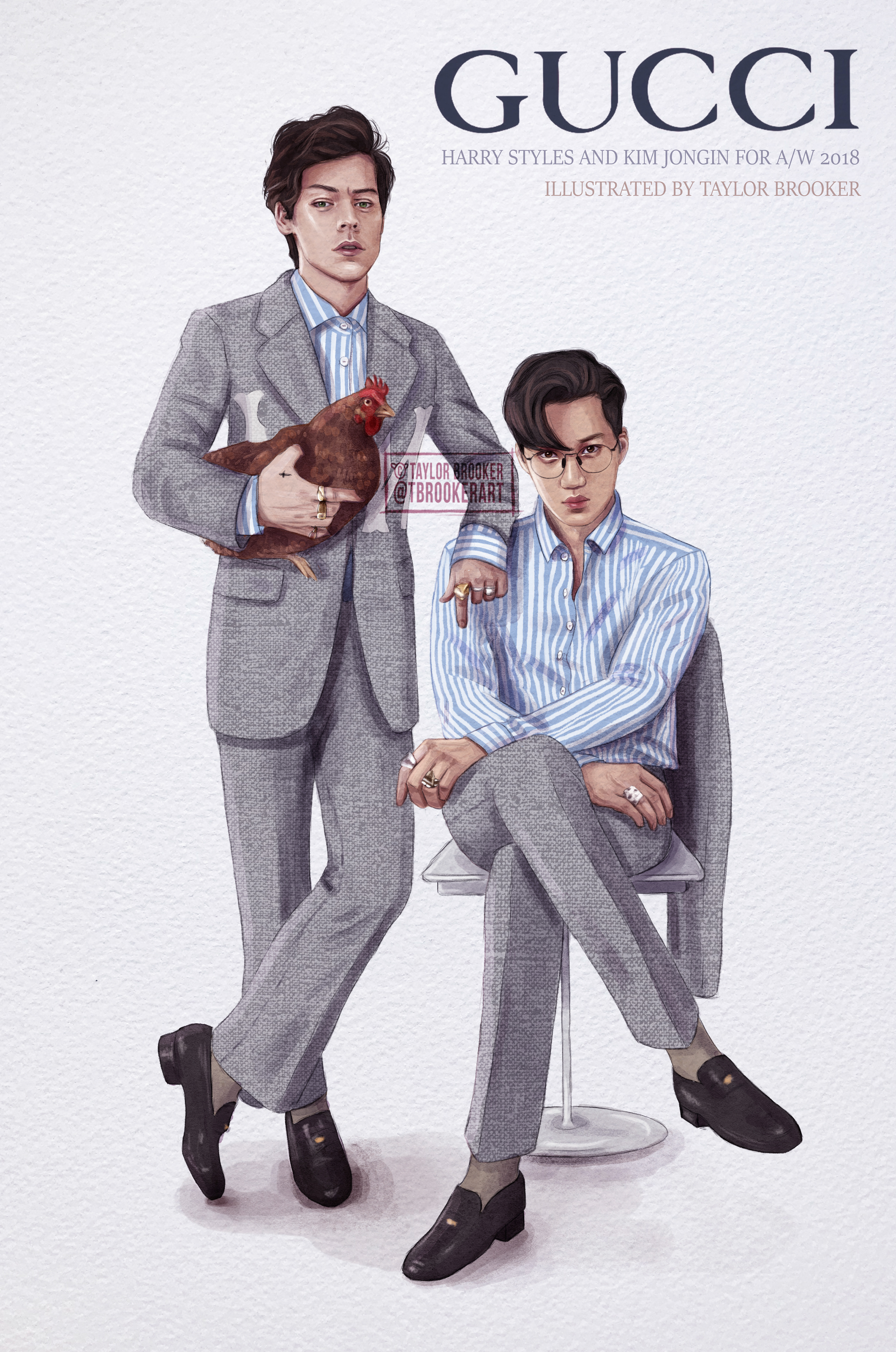 Harry Styles And Exo S Kai For Gucci A W 2018 On Behance