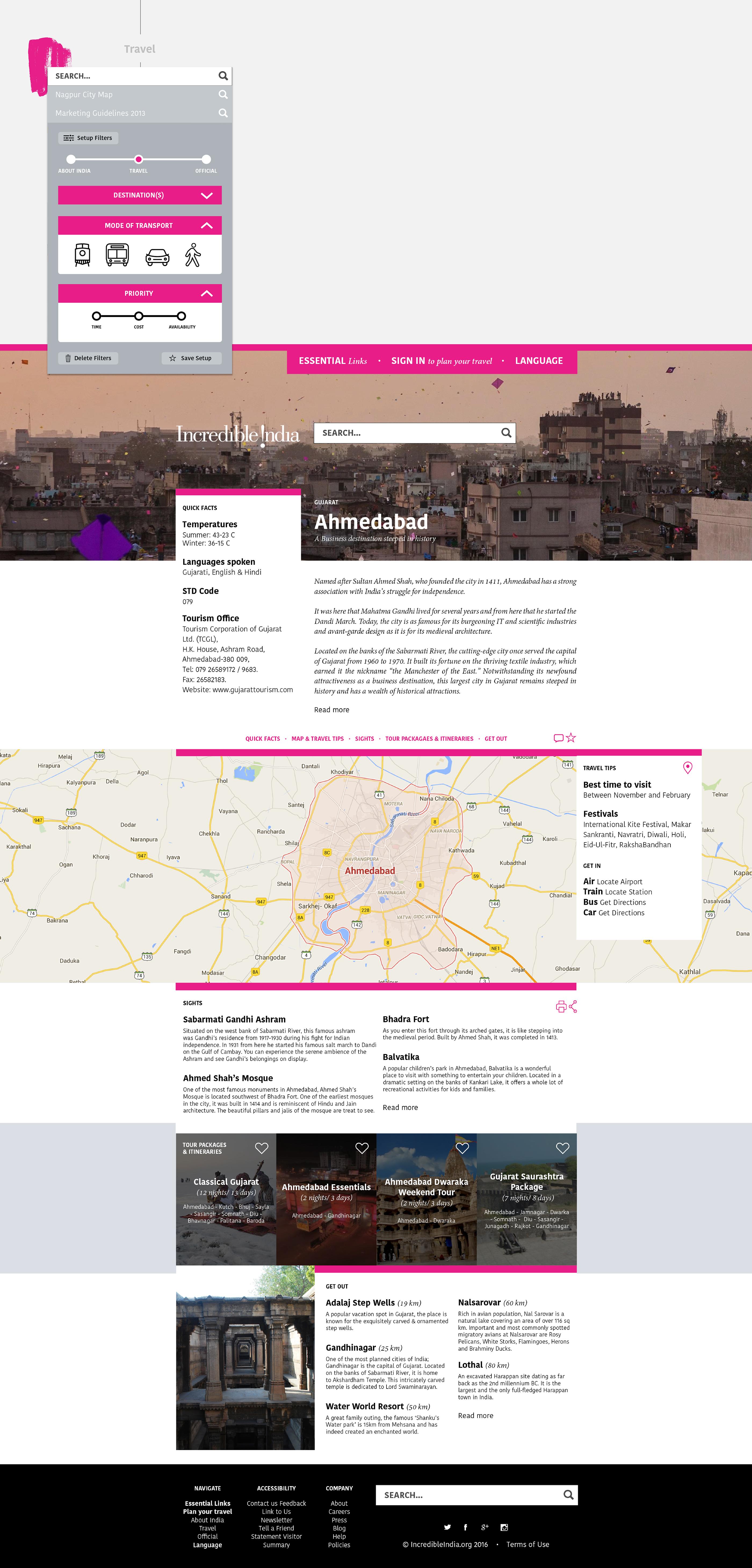 incredible india website
