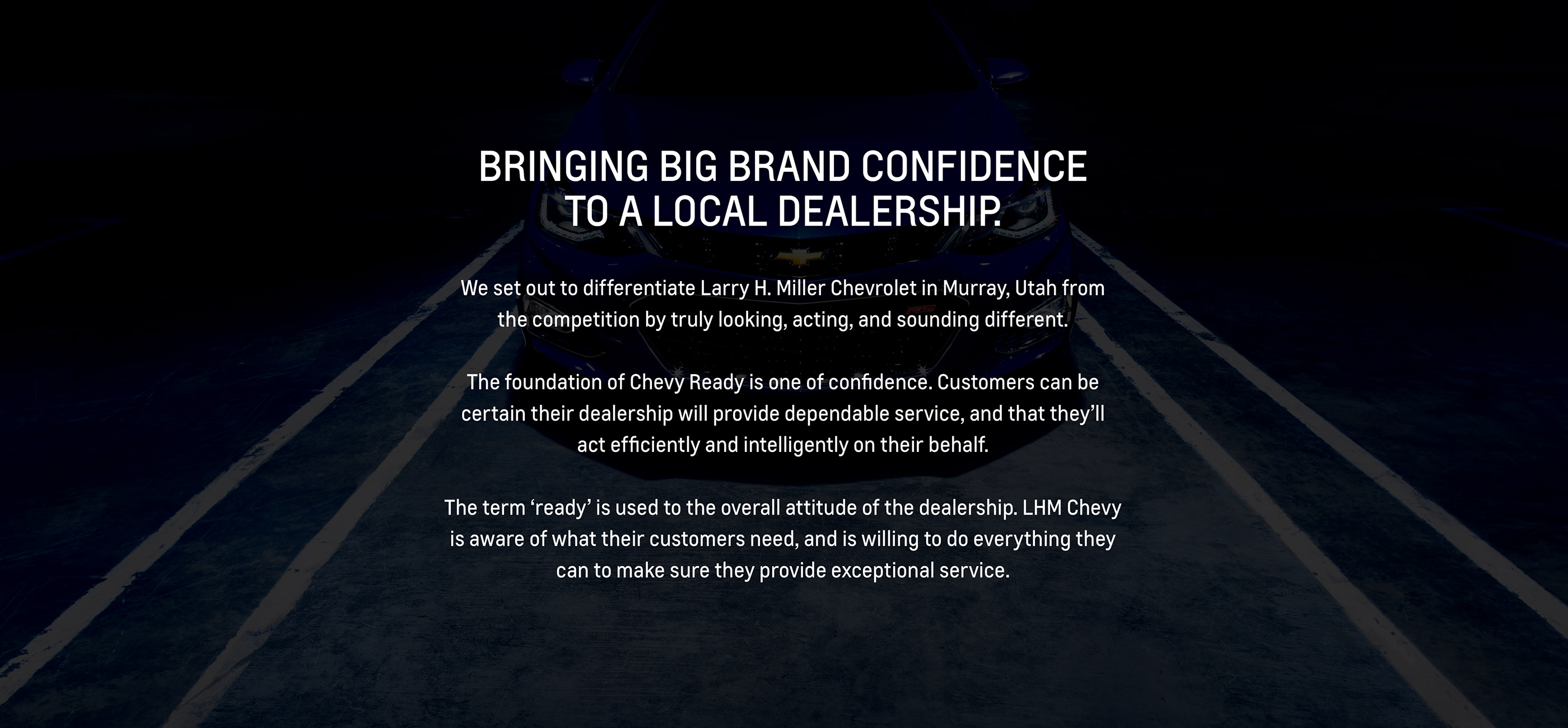 Chevy Ready Larry H Miller Chevrolet Murray On Behance