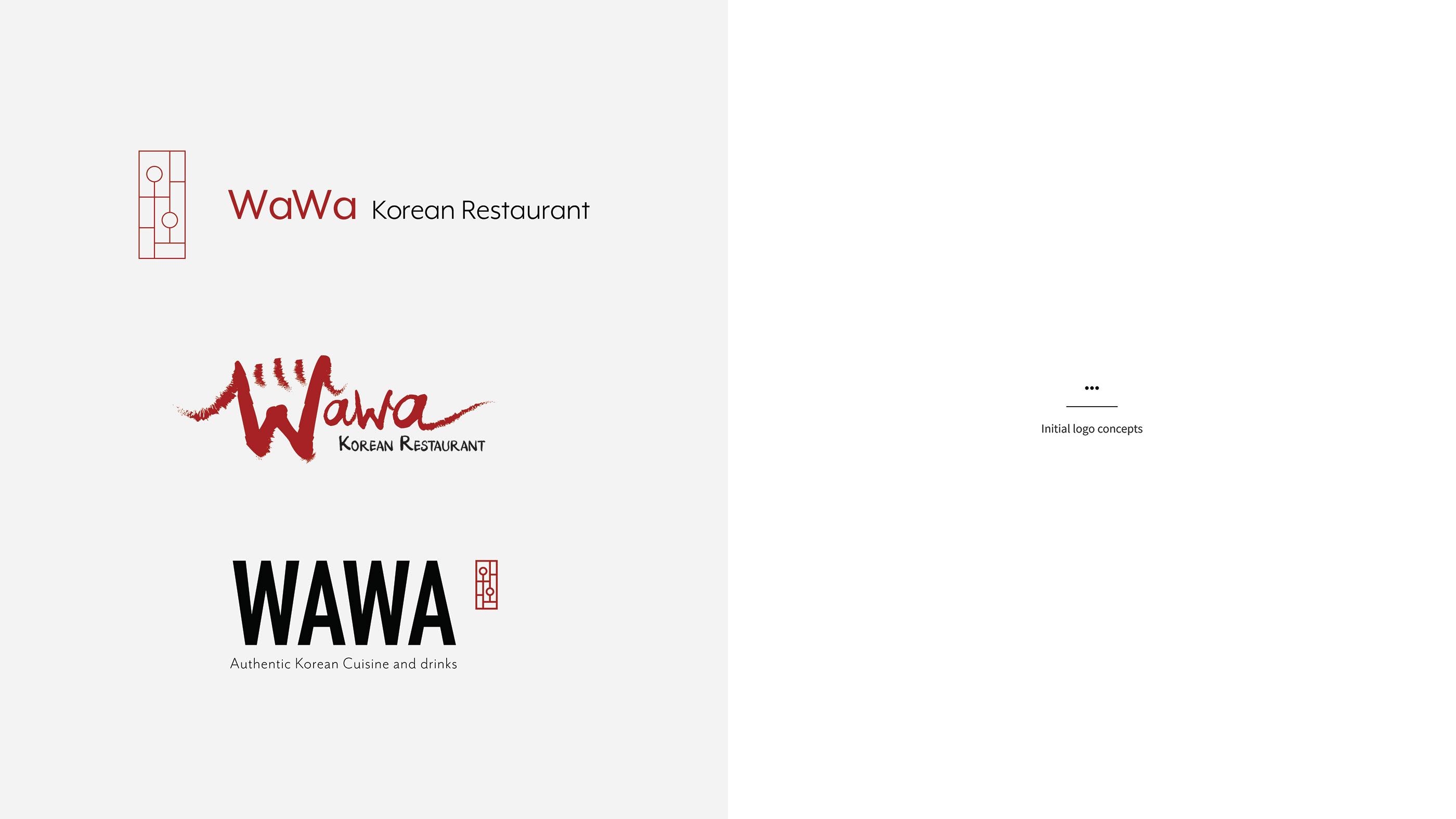 Wawa Korean Restaurant Logo On Behance