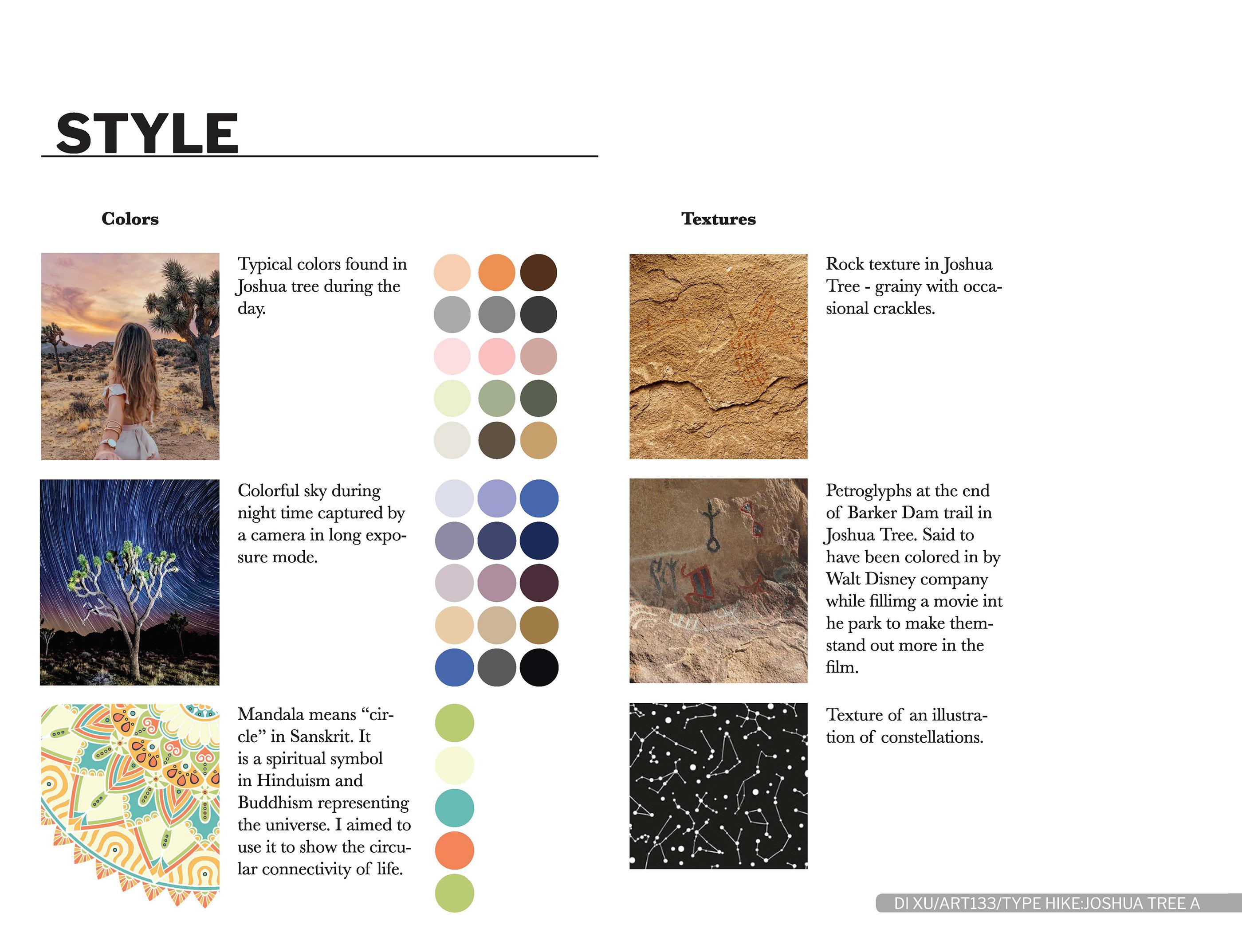 Type Hike Poster: Joshua Tree on Behance