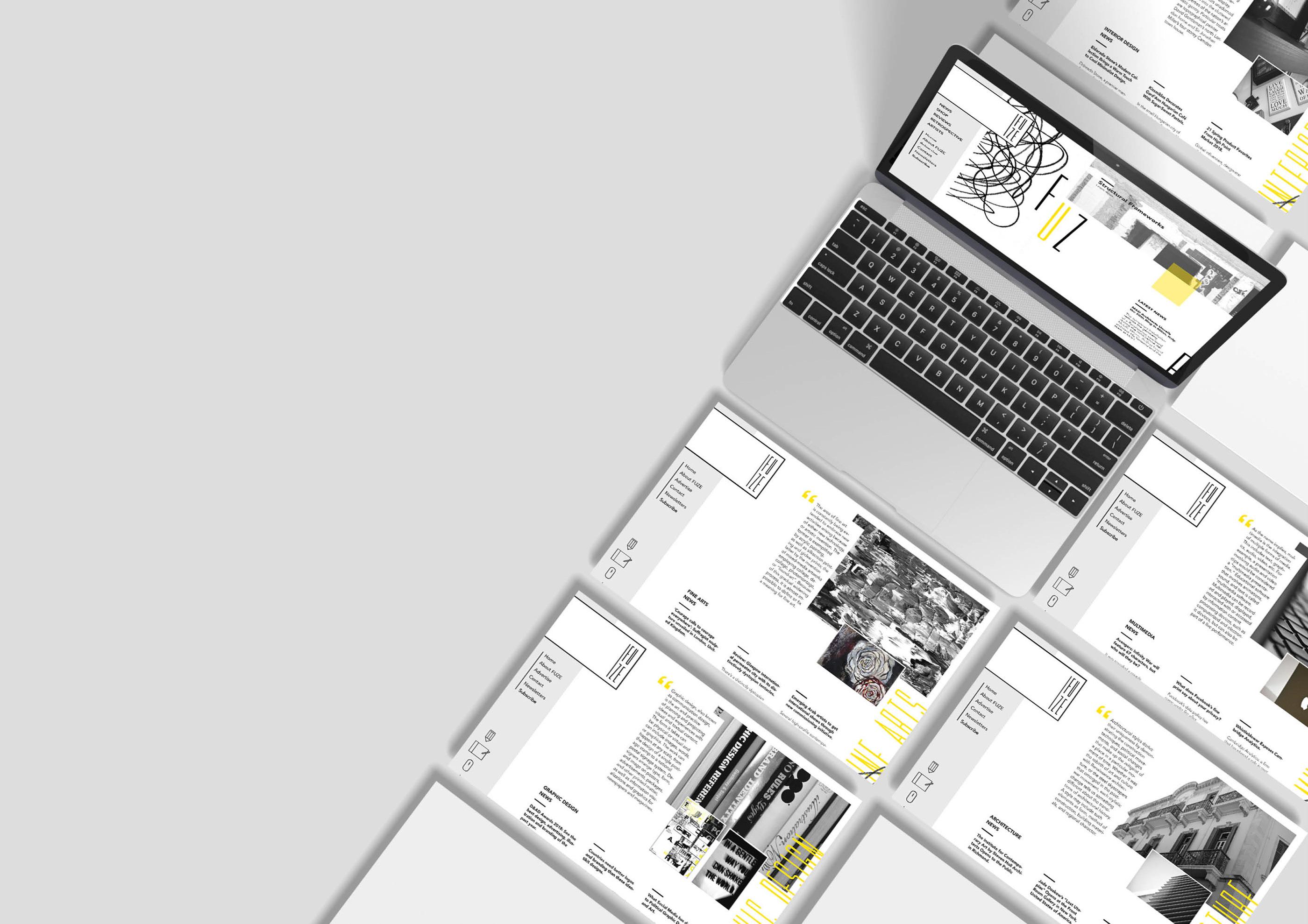 Fuze Art & Design - Website on Behance