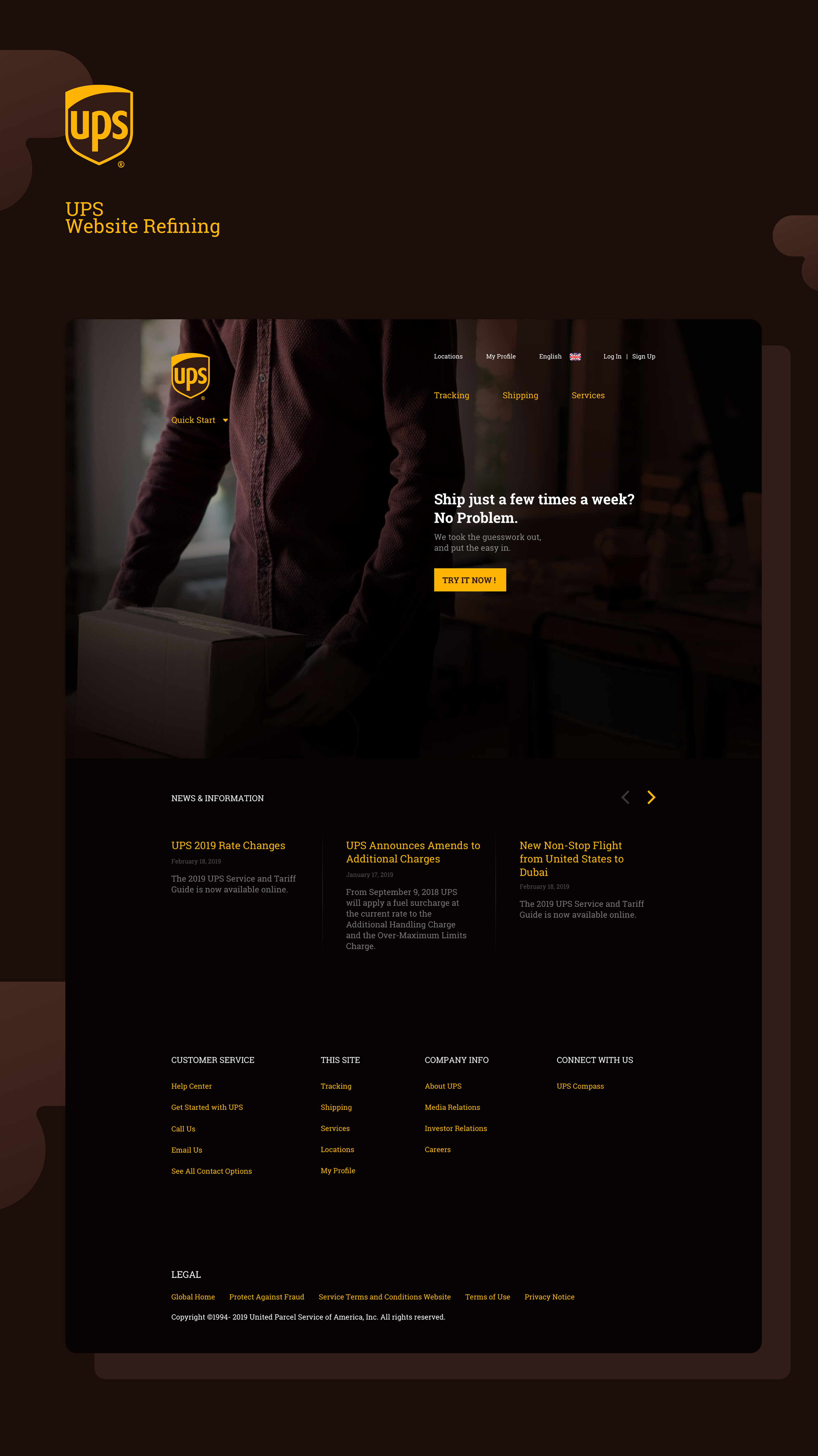 UPS — UI Redesign on Behance