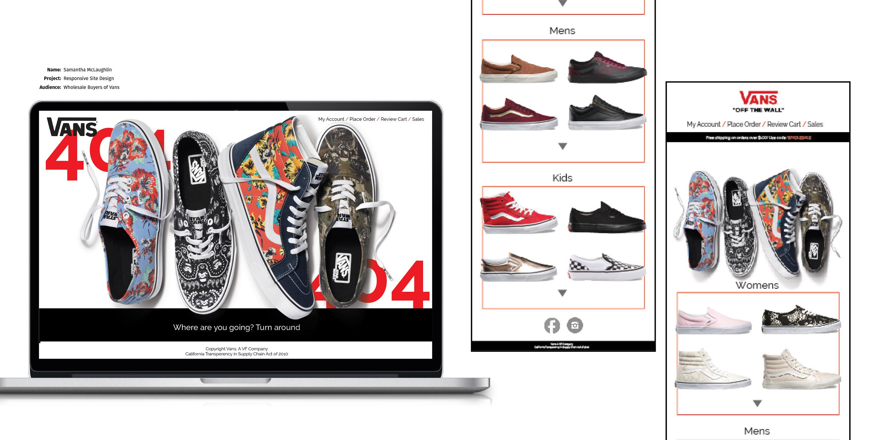 aquí carrera Hundimiento  Vans Responsive Website Design on Behance