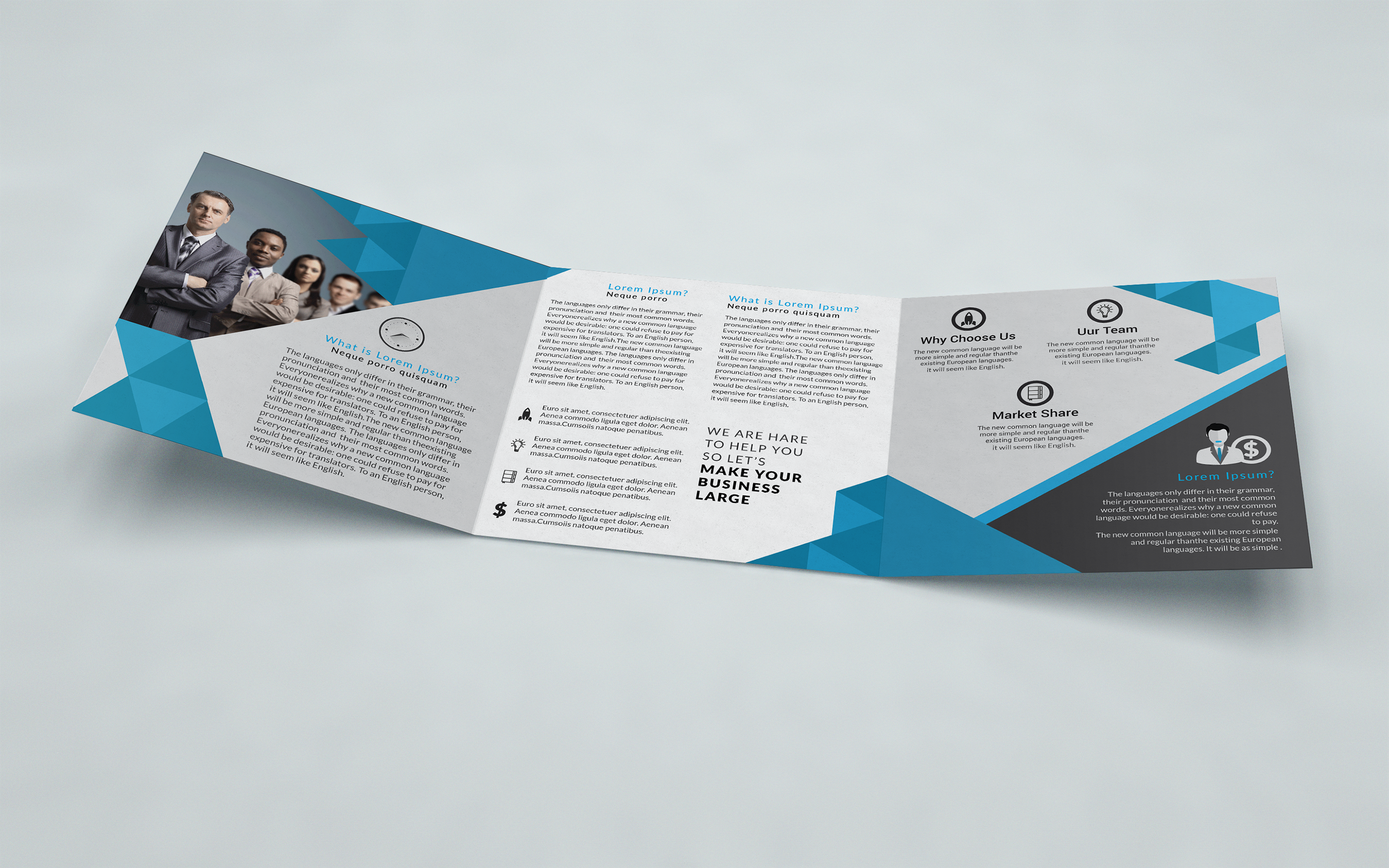 Square Business Trifold Brochure on Behance