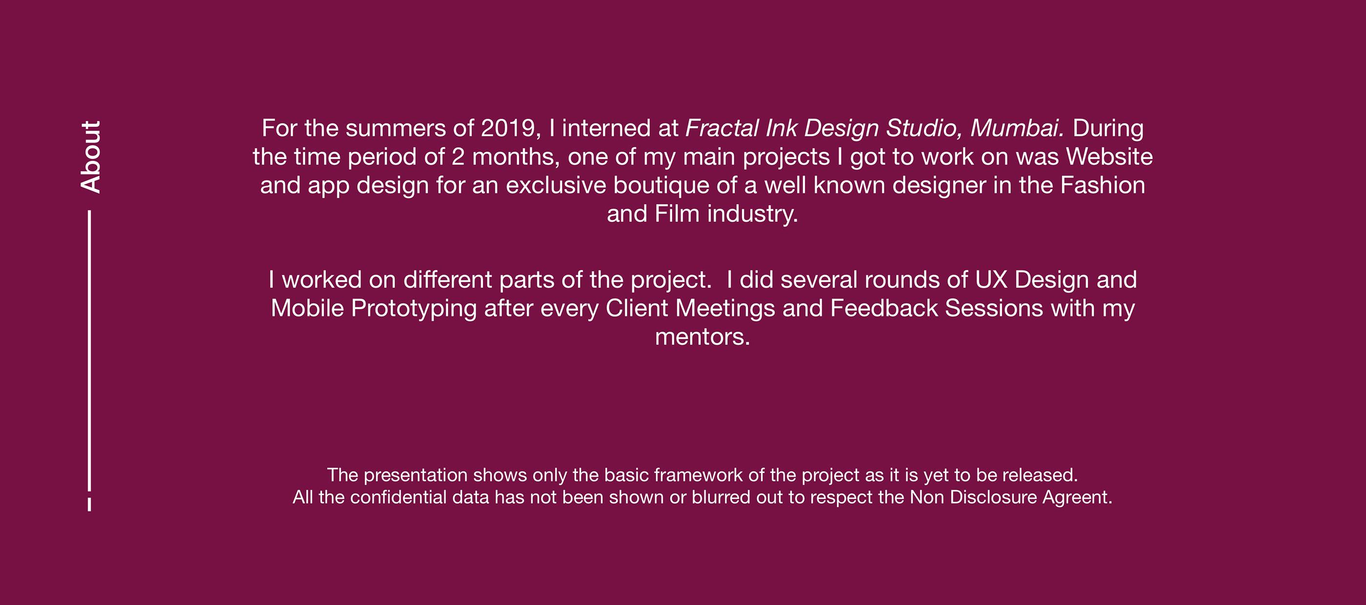 Ux Design Summer Intern Project On Behance
