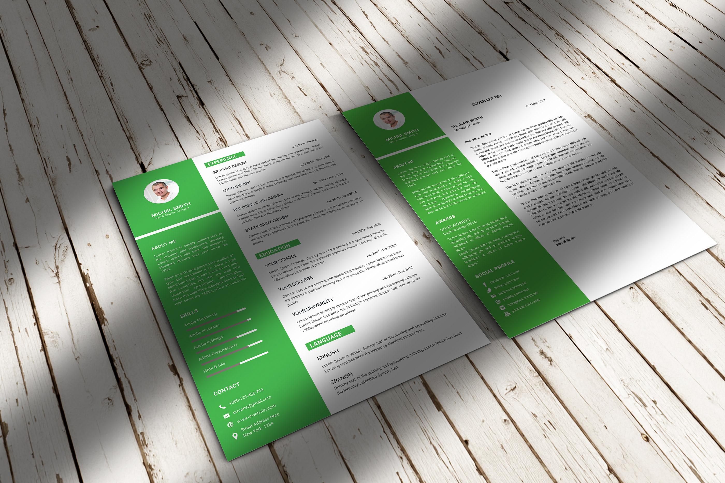 Resume + Cover Letter on Behance