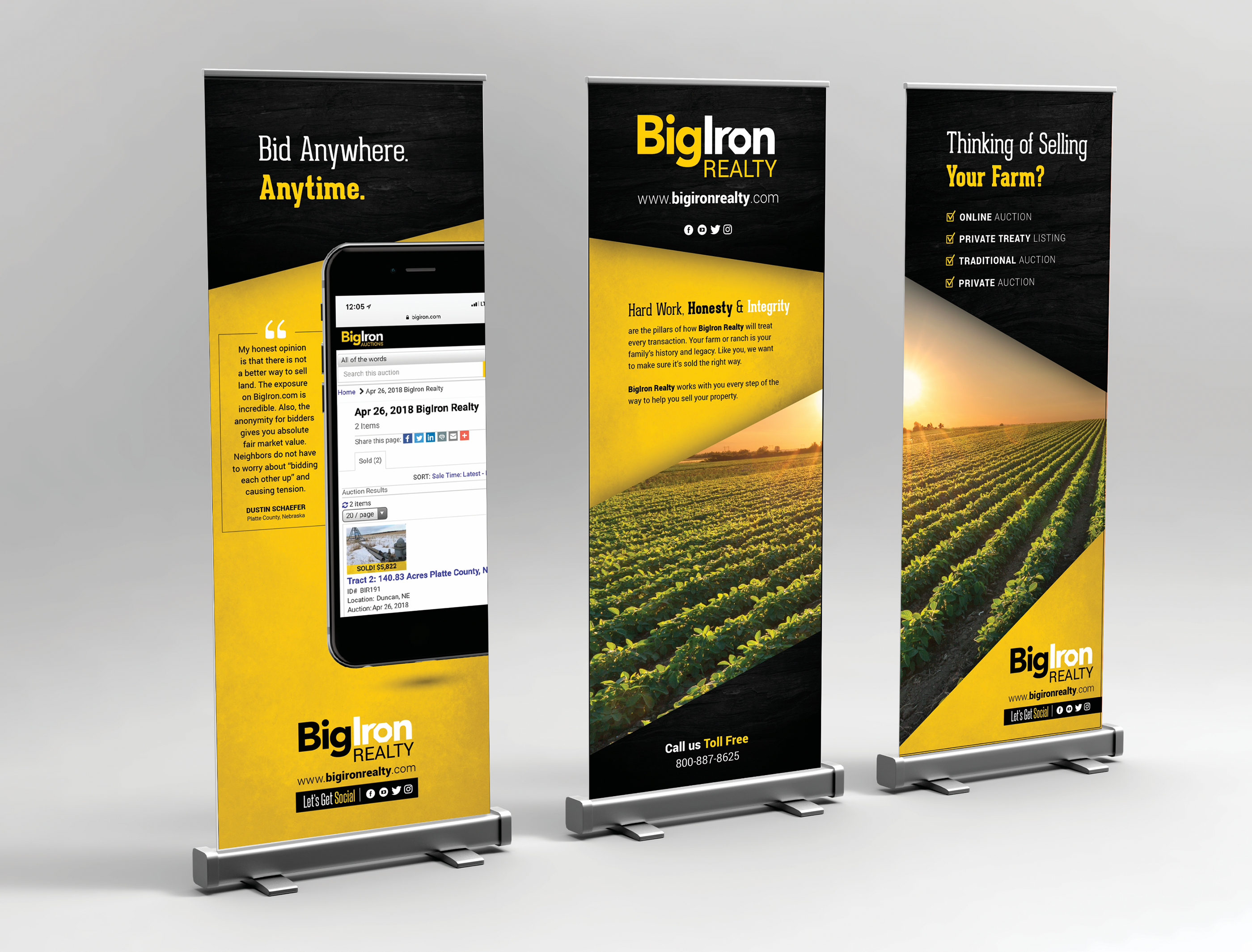 Retractable Banners _BigIron Realty on Behance