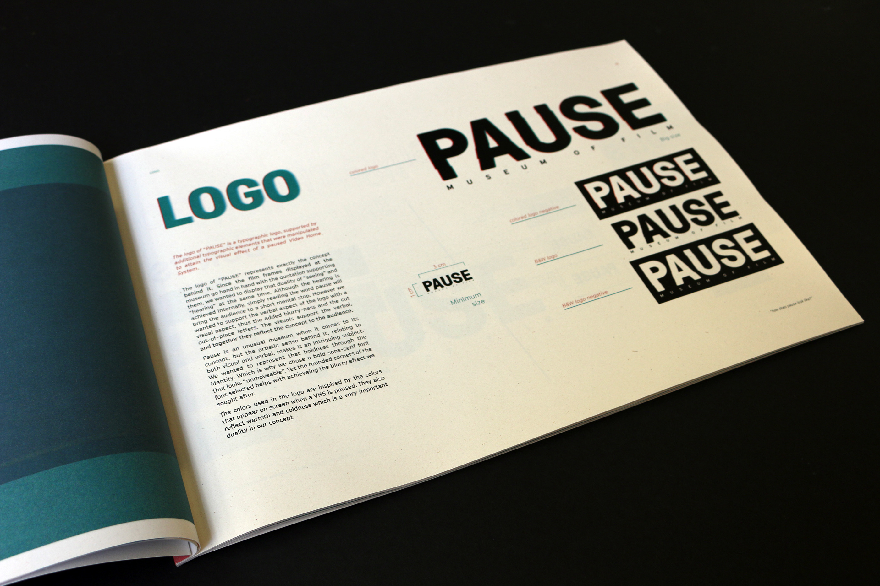Branding of PAUSE, a Museum of Film on Behance