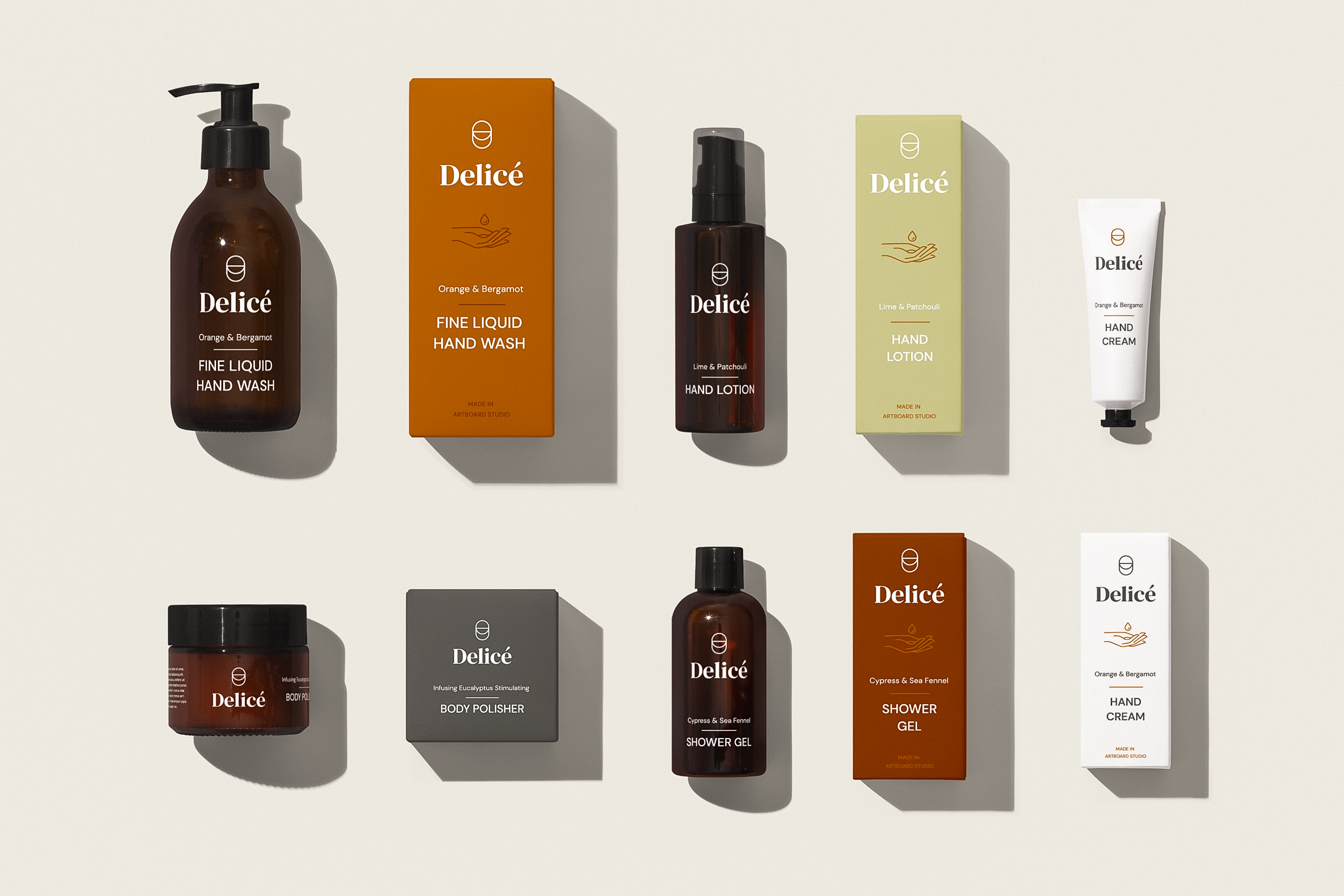 Artboard Studio introducing Delicè, a free customizable Brand Design Concept