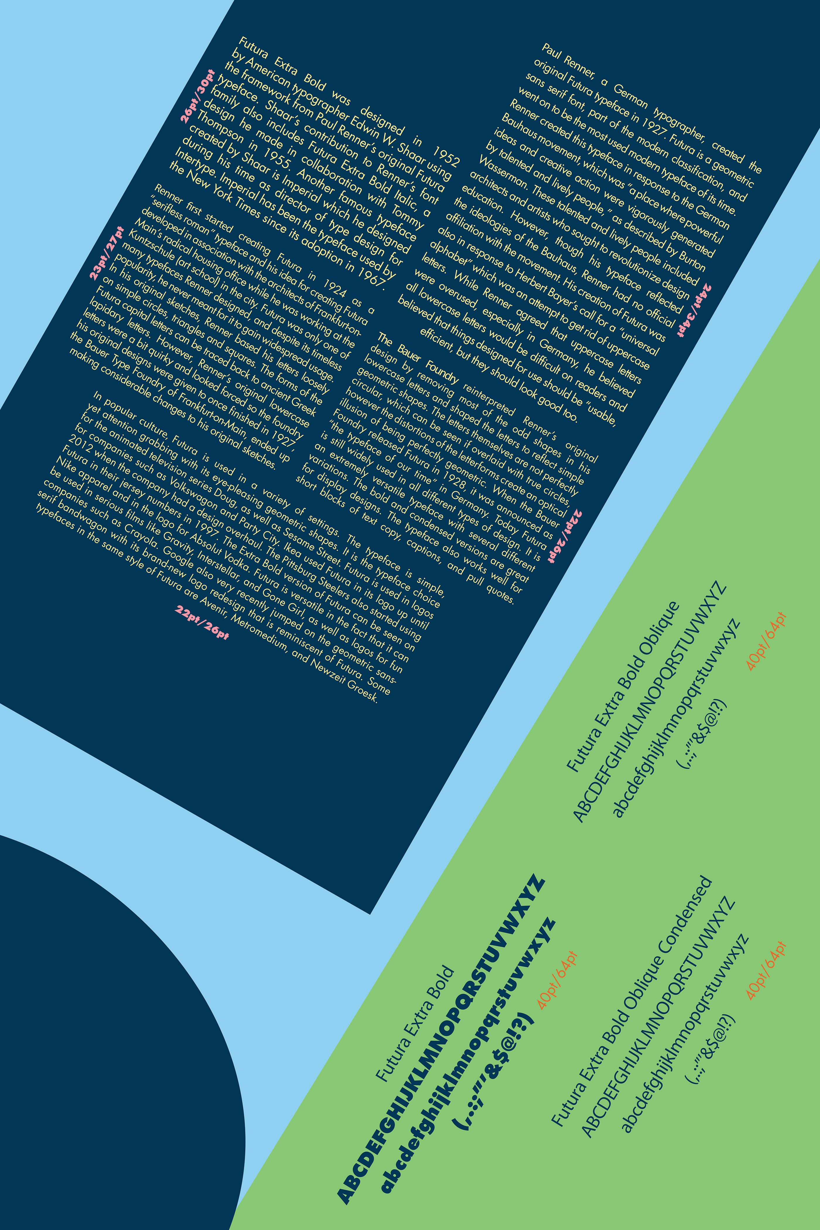 Type Specimen Poster: Futura Extra Bold on Behance