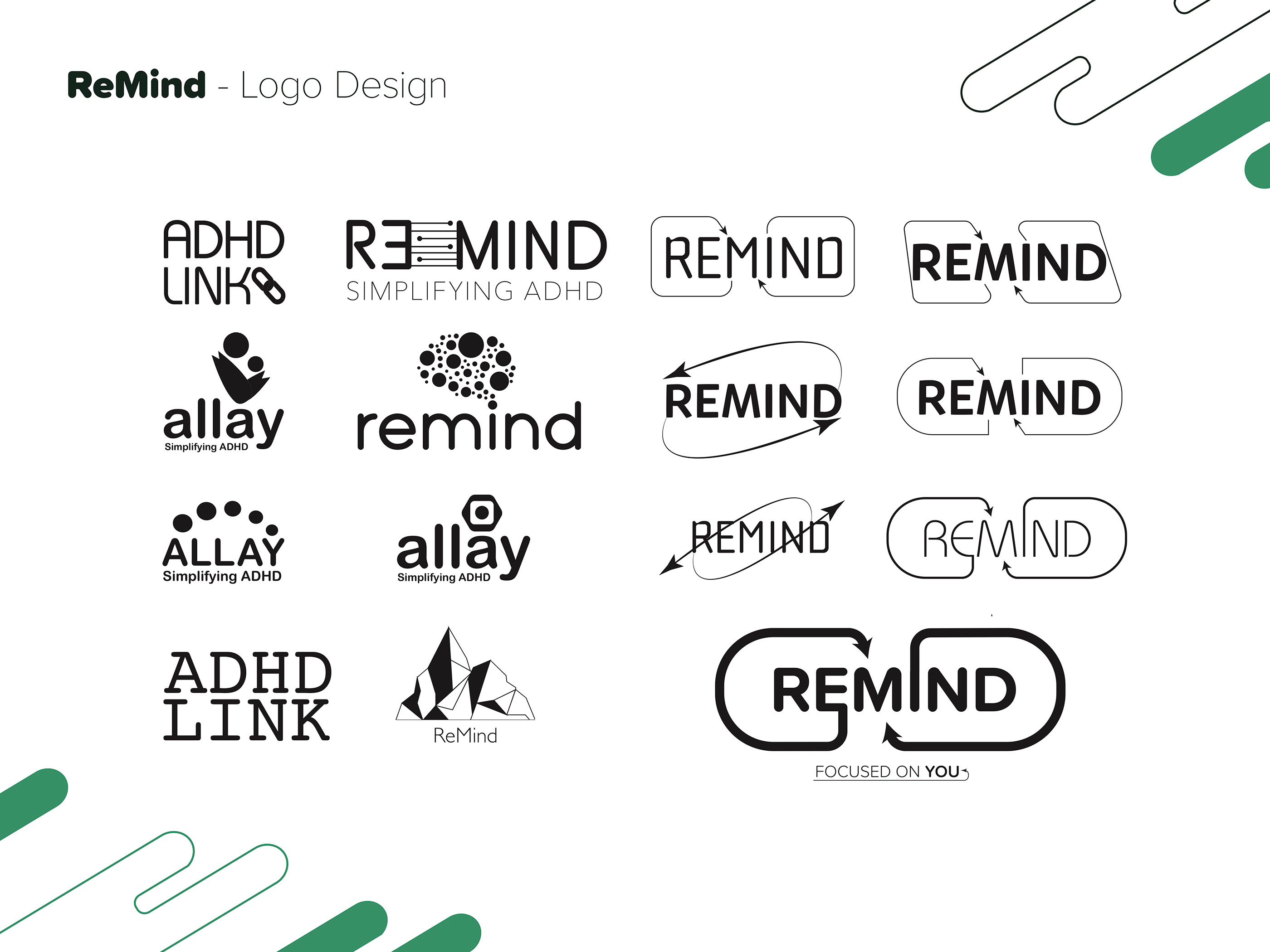 Remind Adhd Awareness Campaign Design For Good Project On Behance