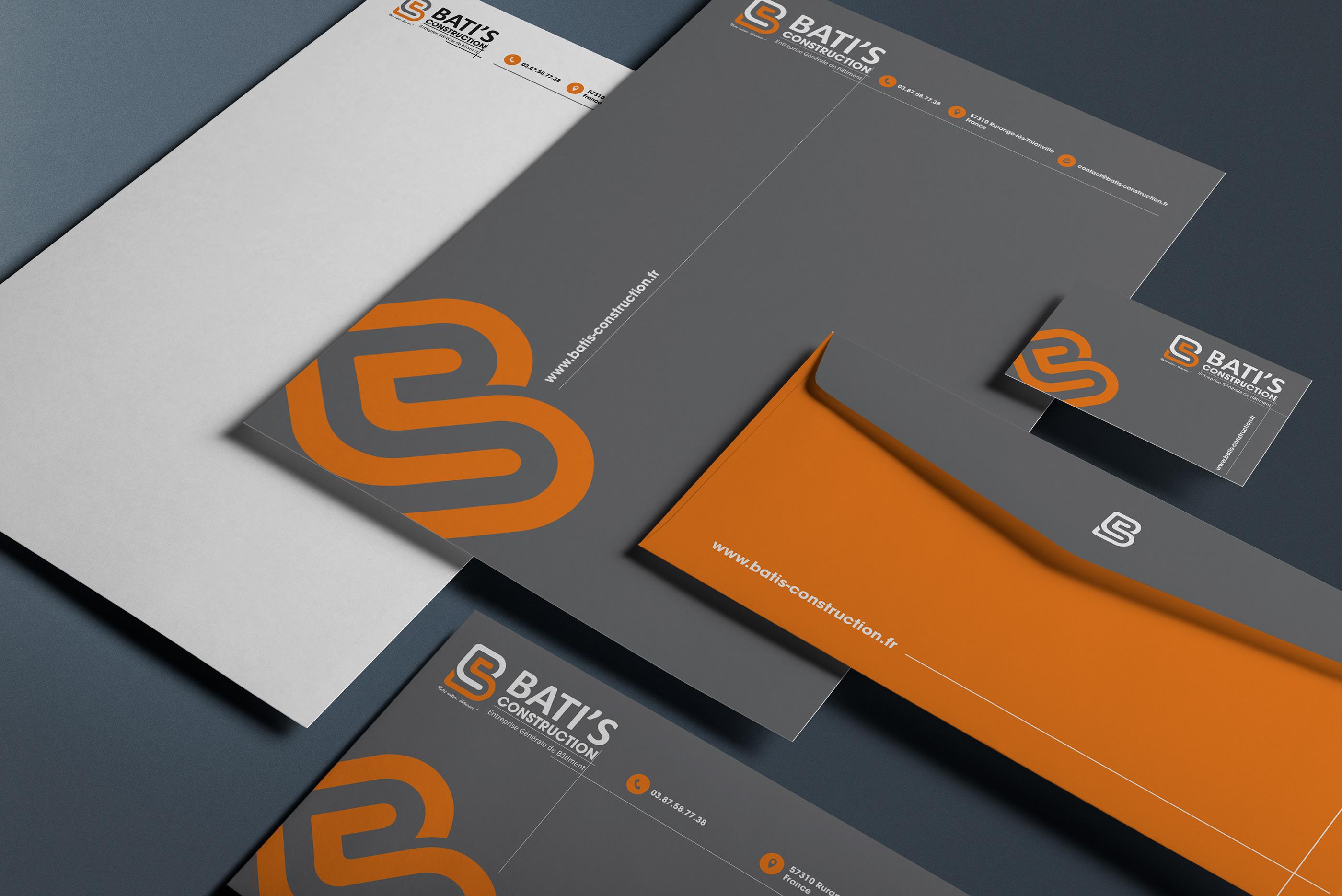 Entreprise Generale De Batiment 77 bati's construction branding on behance