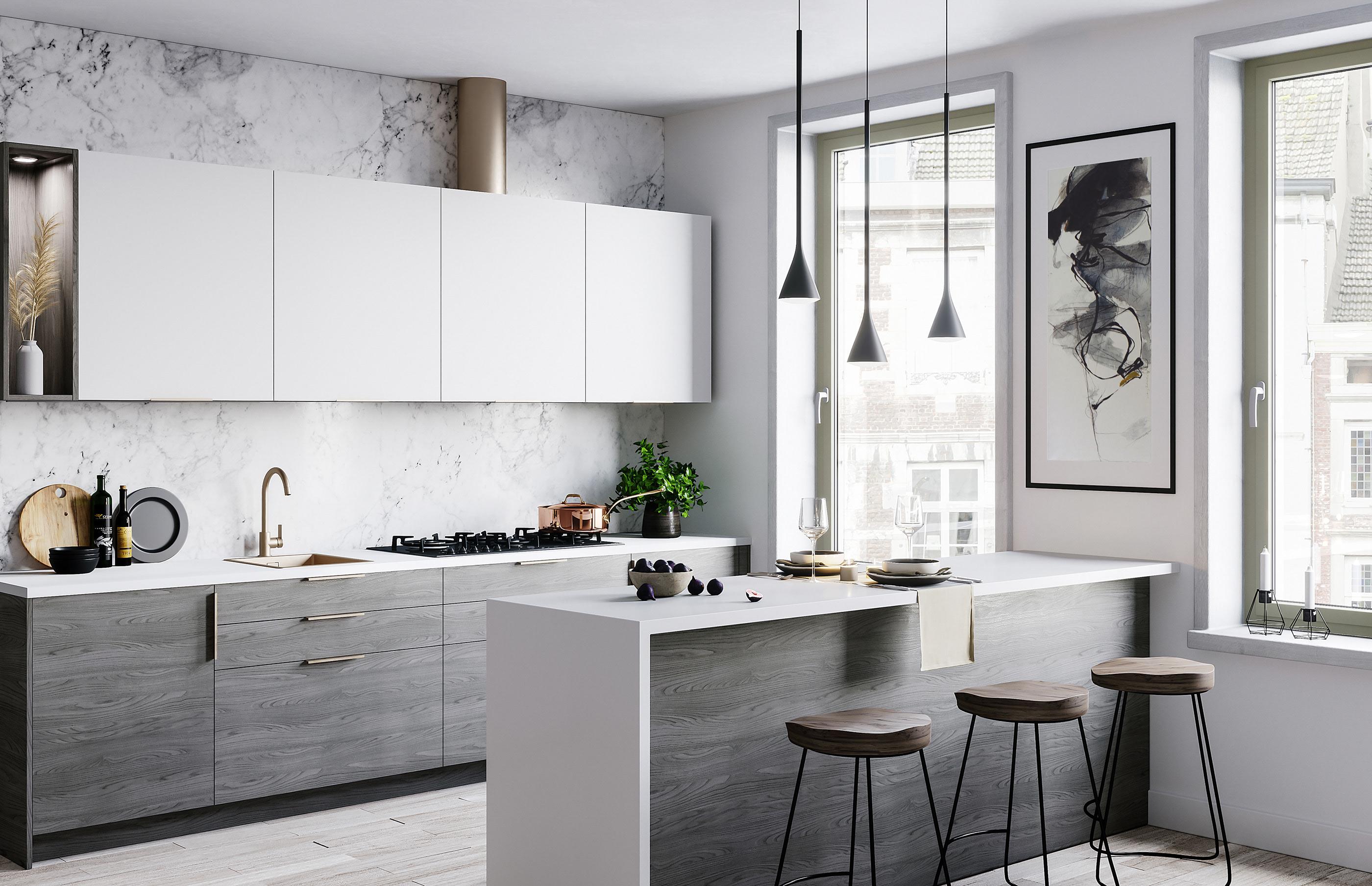 Modern Kitchen   Interior Renders on Behance