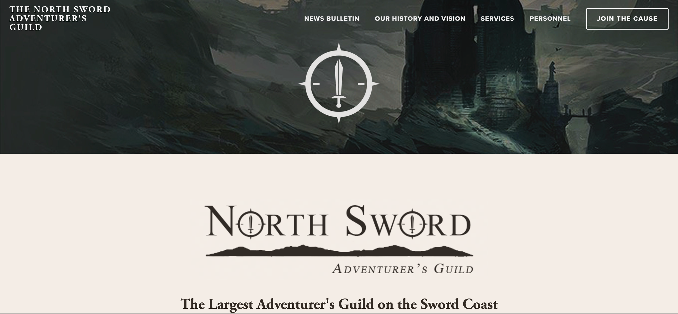 The North Sword: Adventurer's Guild Branding on Behance