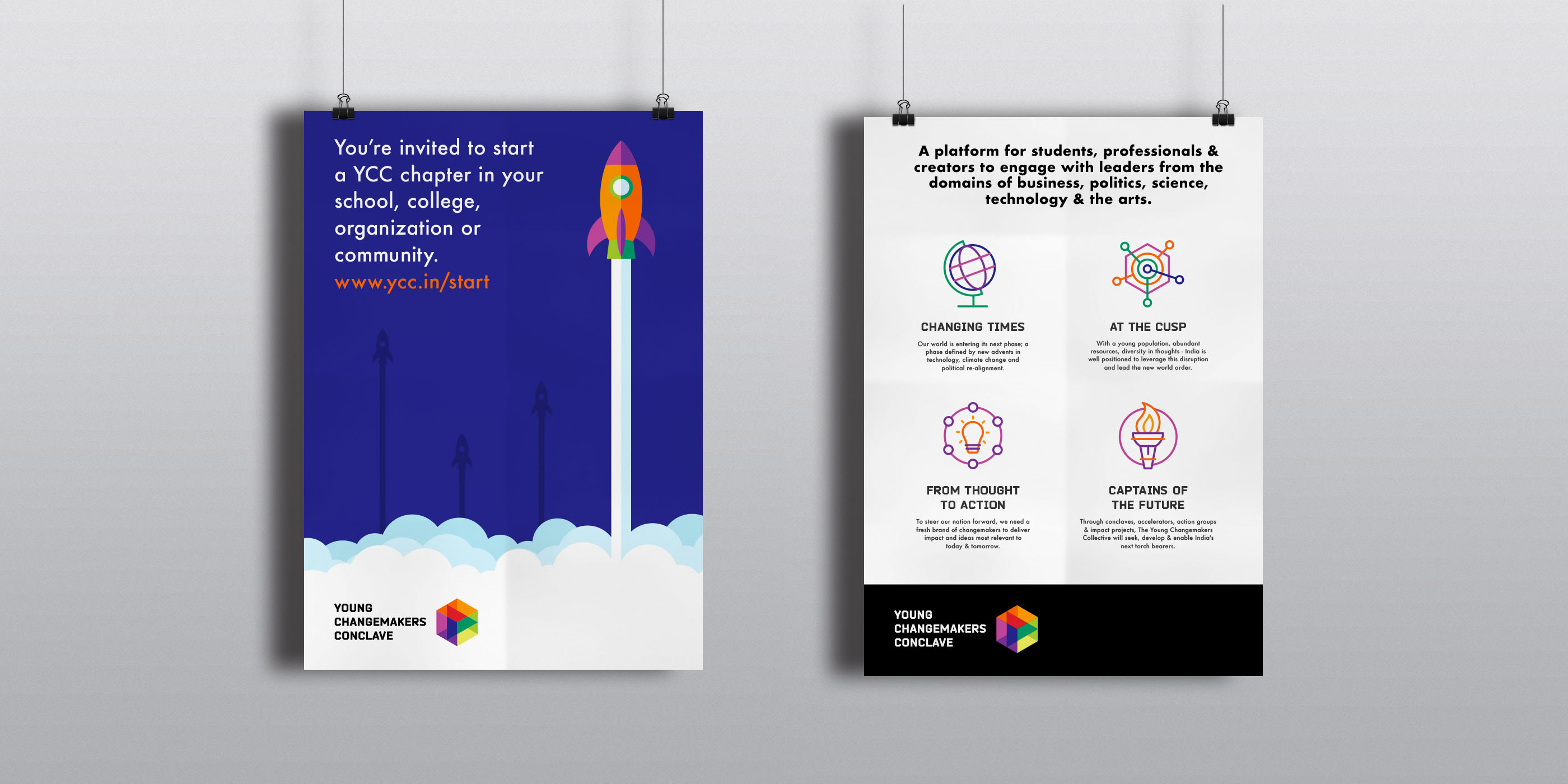 Young Changemakers Conclave - Brand Identity on Behance