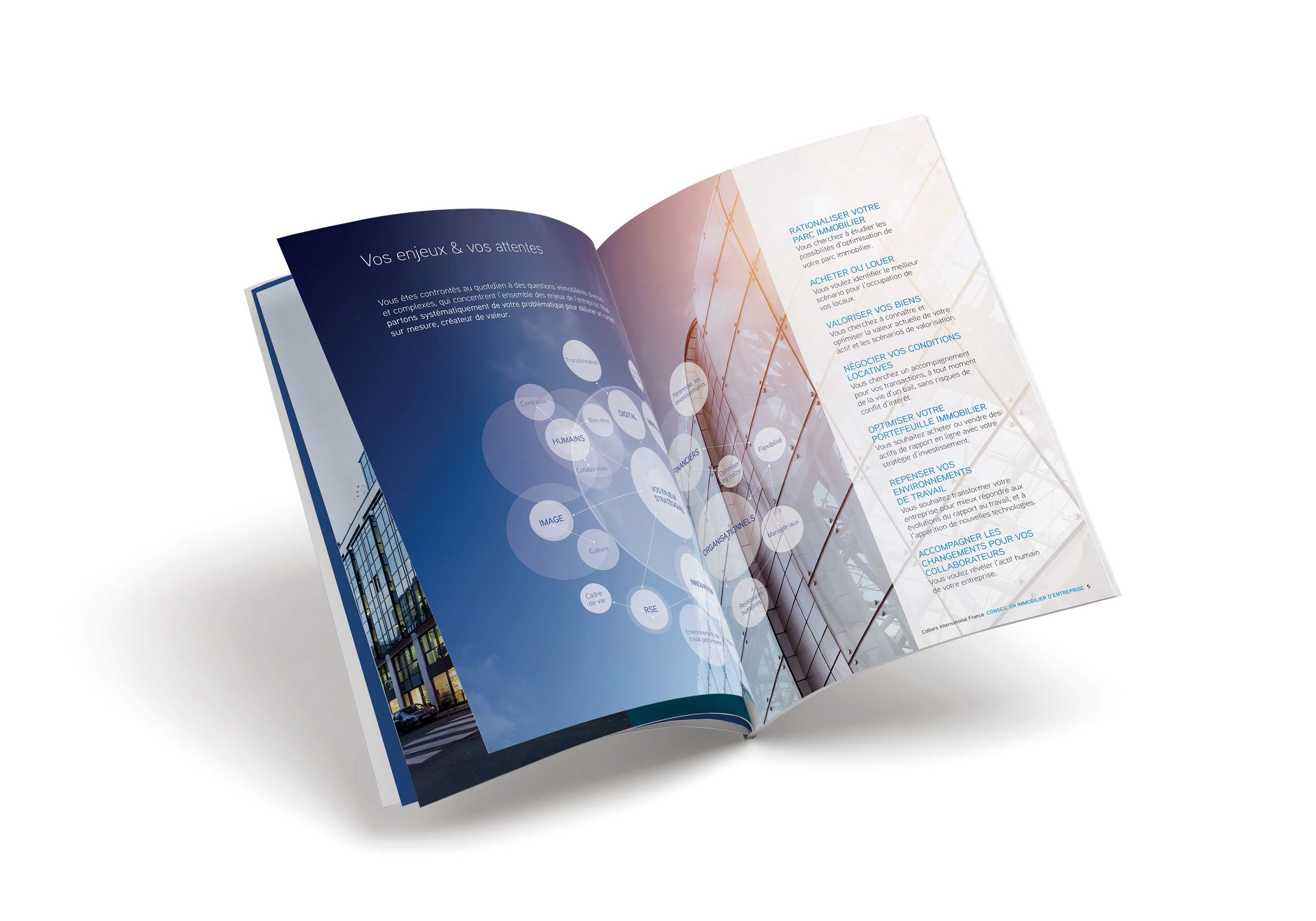 Colliers International France Corporate Brochure on Behance