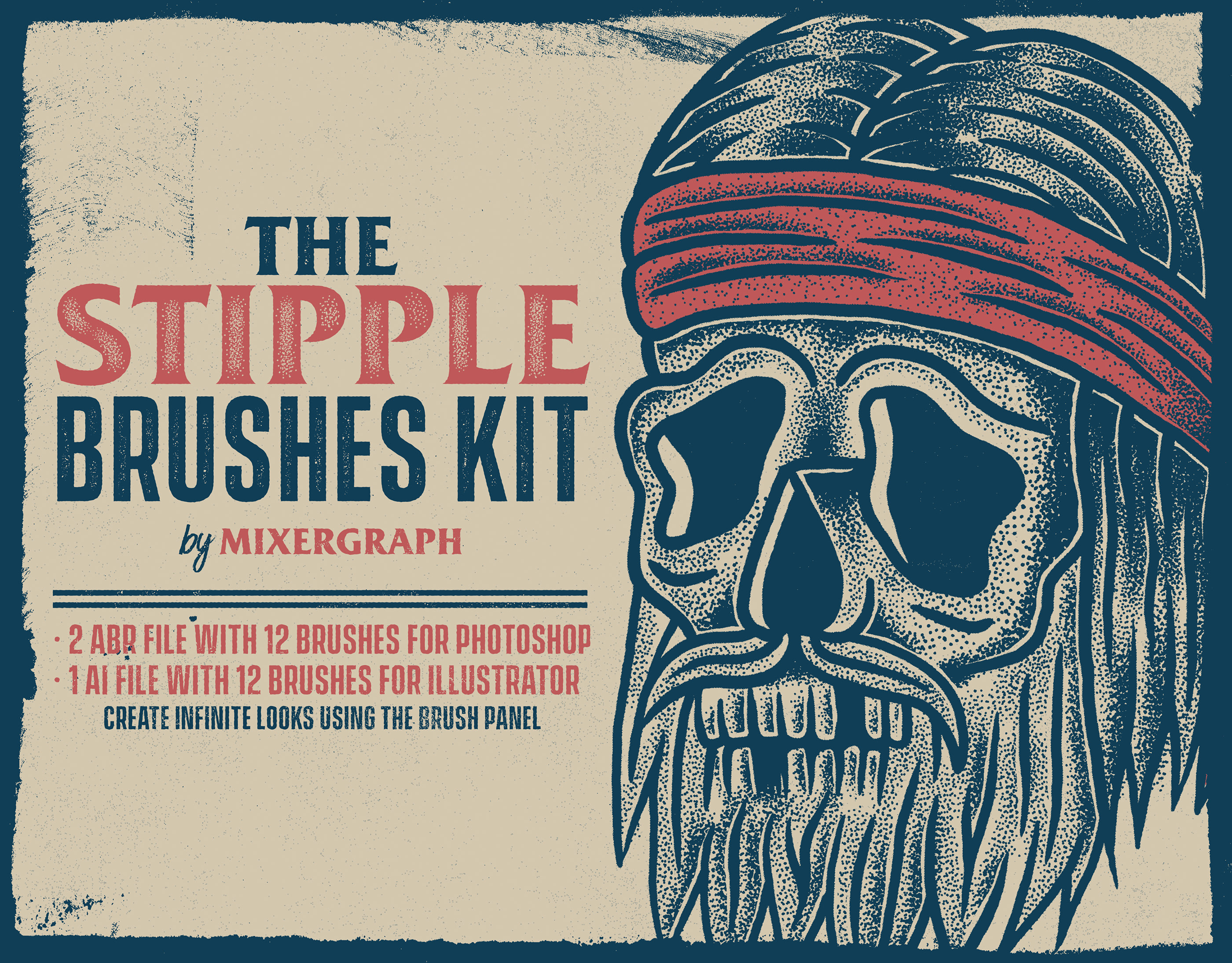 The Stipple Brushes Kit for Photoshop and Illustrator on Behance