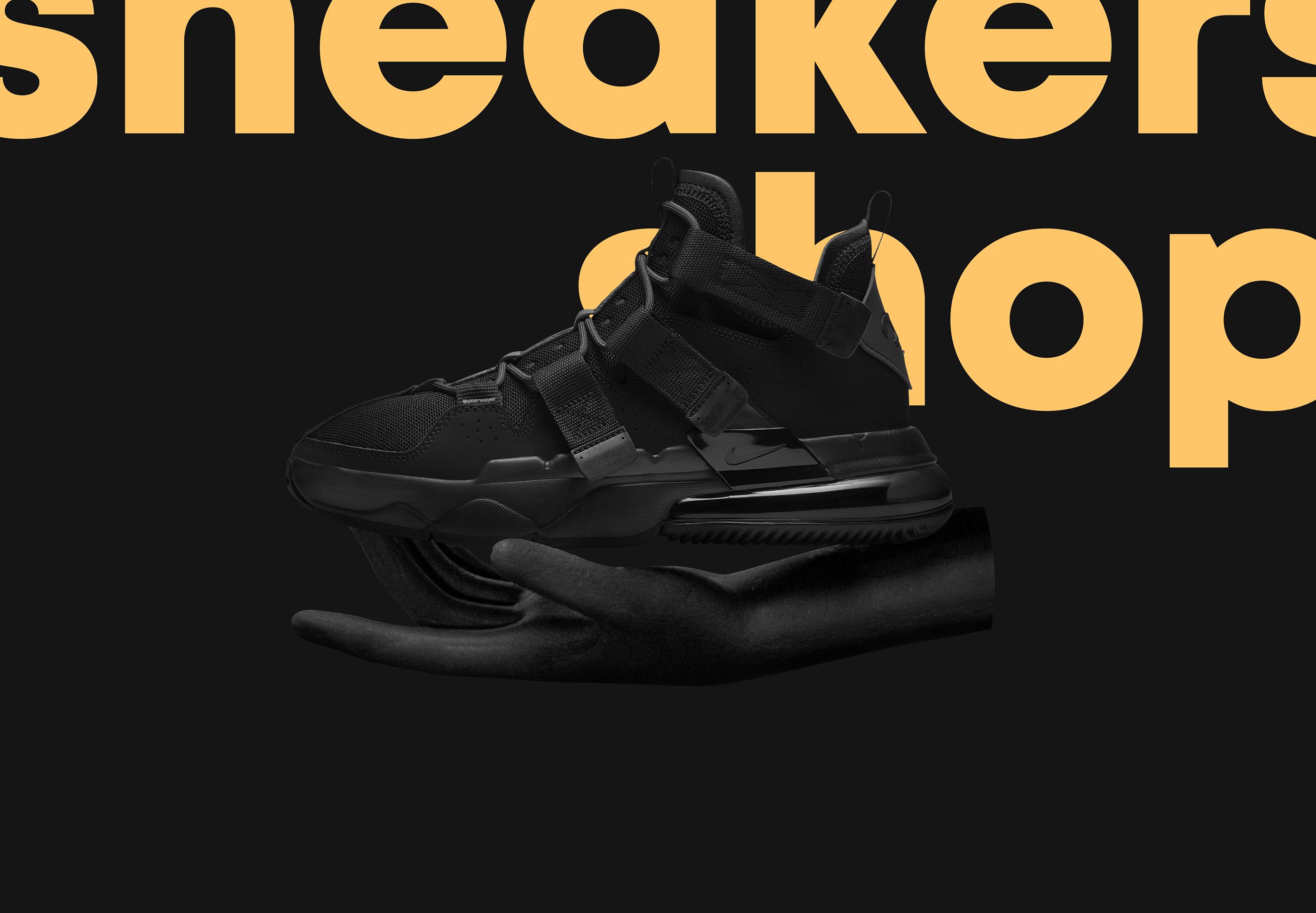 Sneakers online shop on Behance