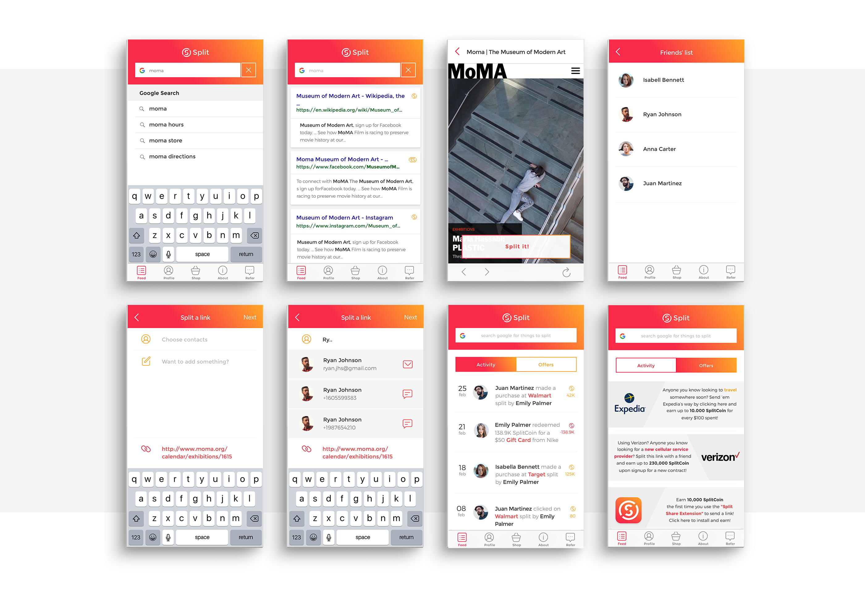SPLIT | iOS App on Behance