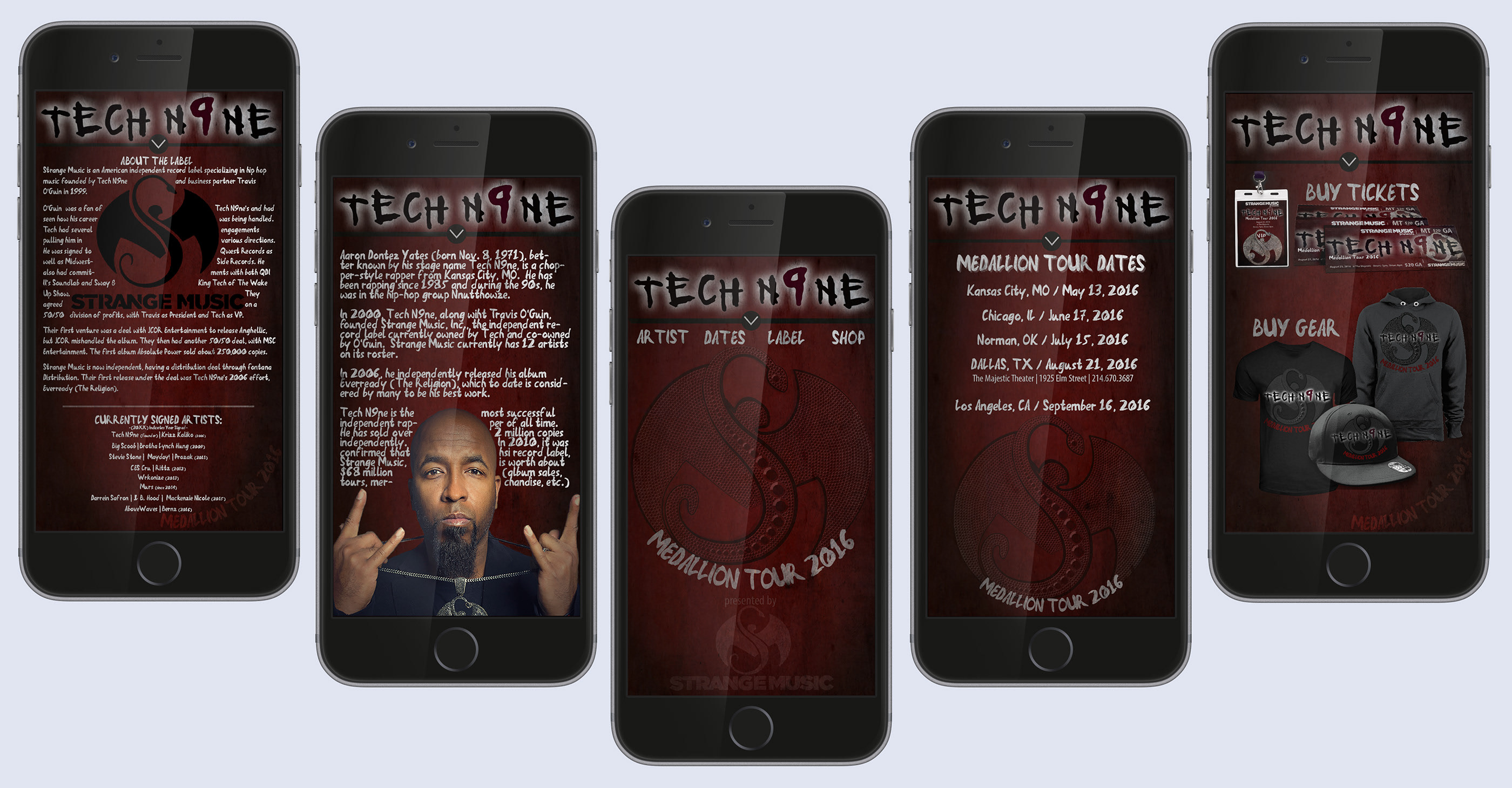 Tech N9ne Concert Package on Behance