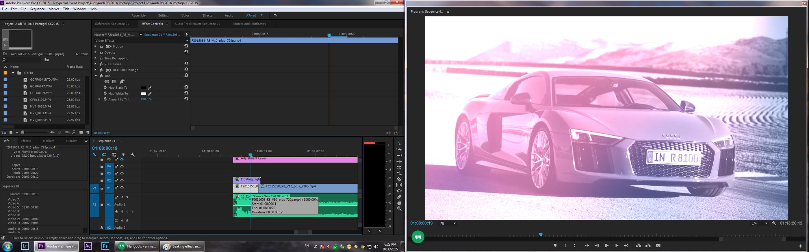 2016 Audi R8 Video Editing & Break Down on Behance