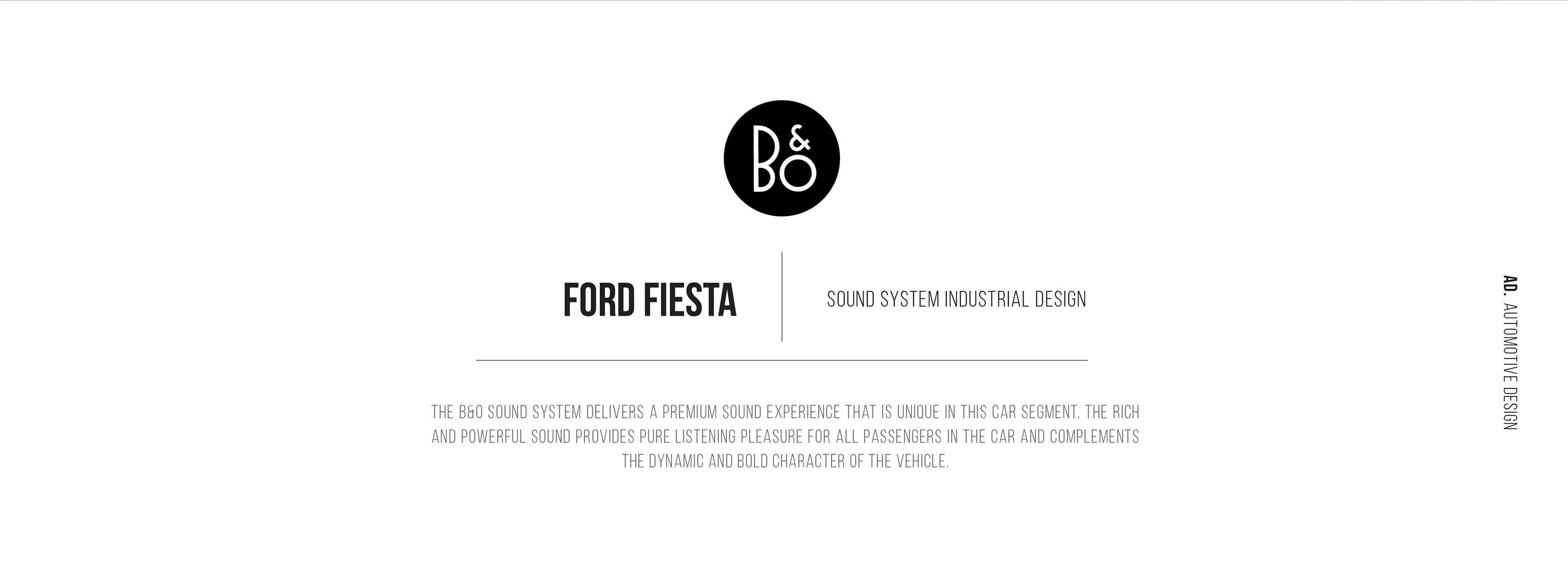 B&O X Ford Fiesta on Behance