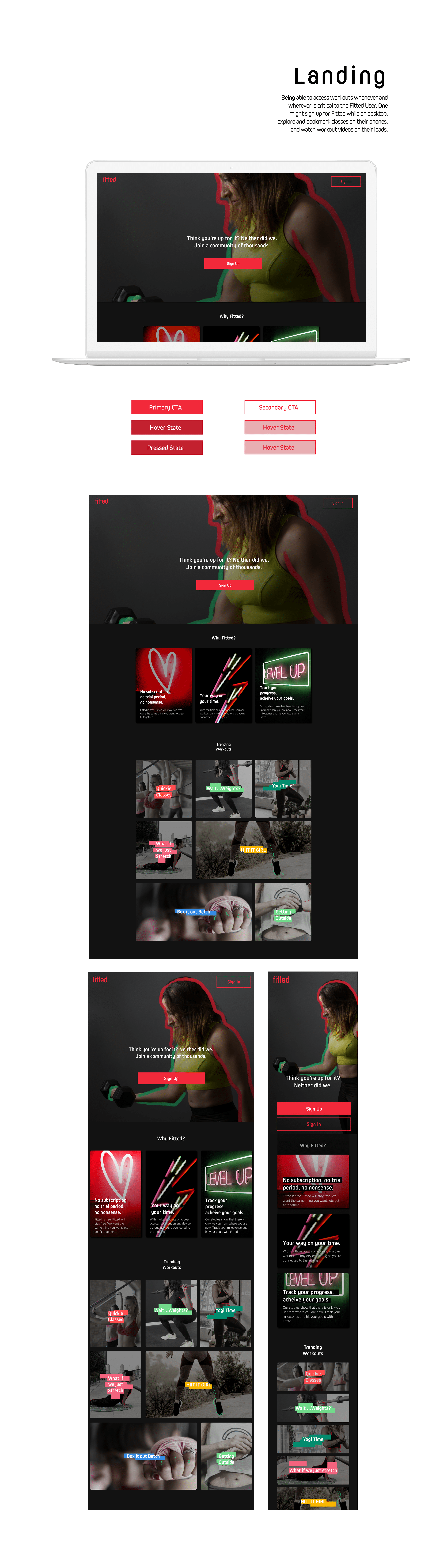 Fitted Fitness Web App On Behance