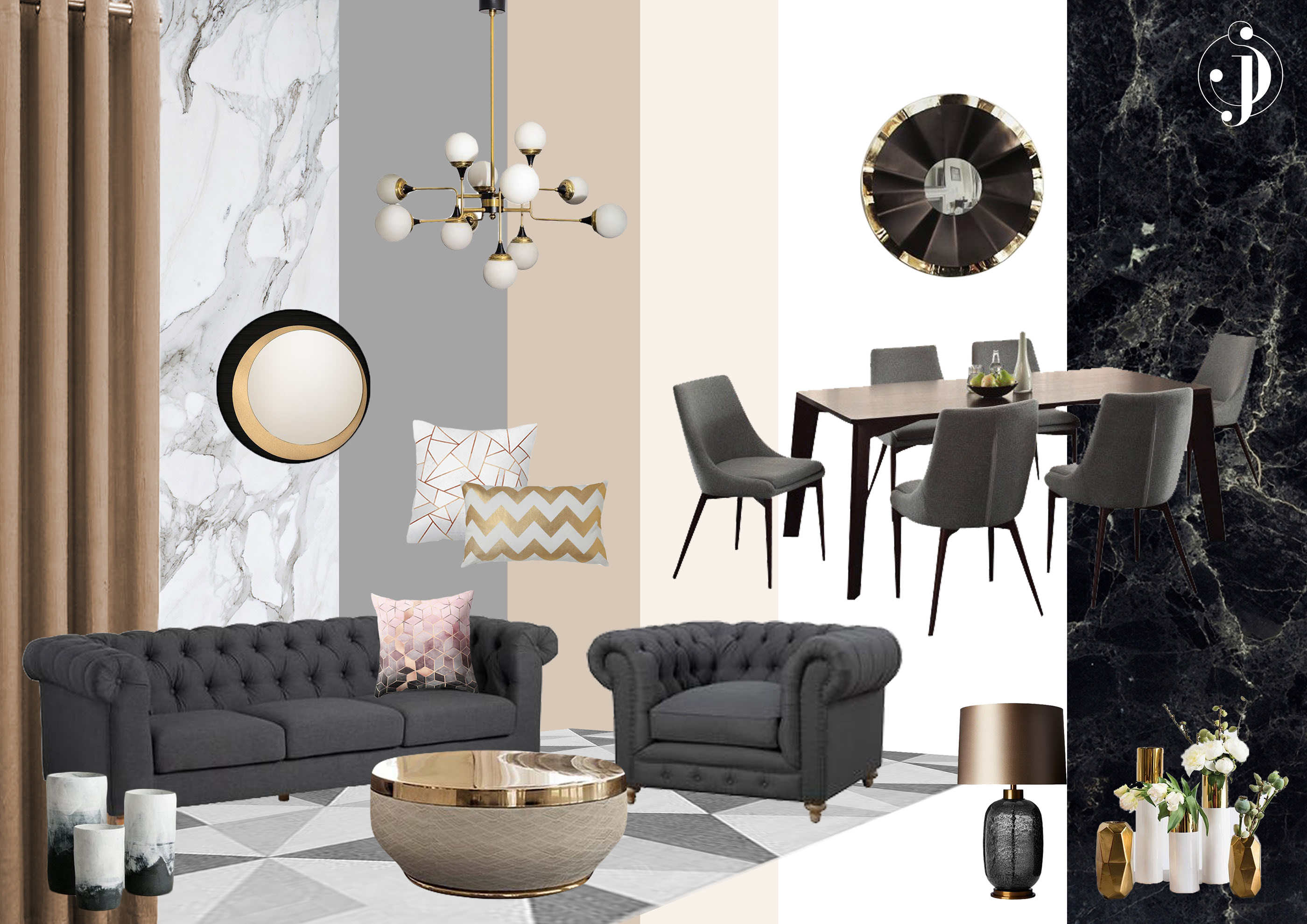 Interior Styling Mood Boards On Behance