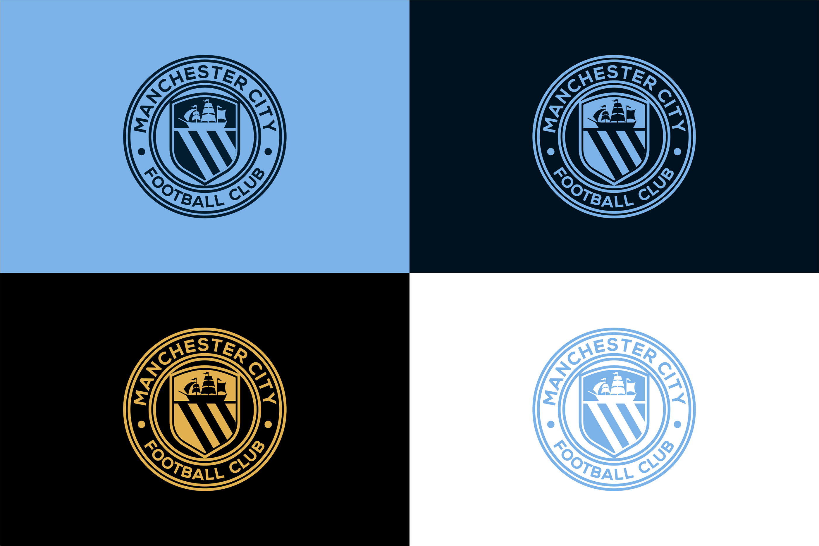 Manchester City Football Club Badge Redesign Idea On Behance