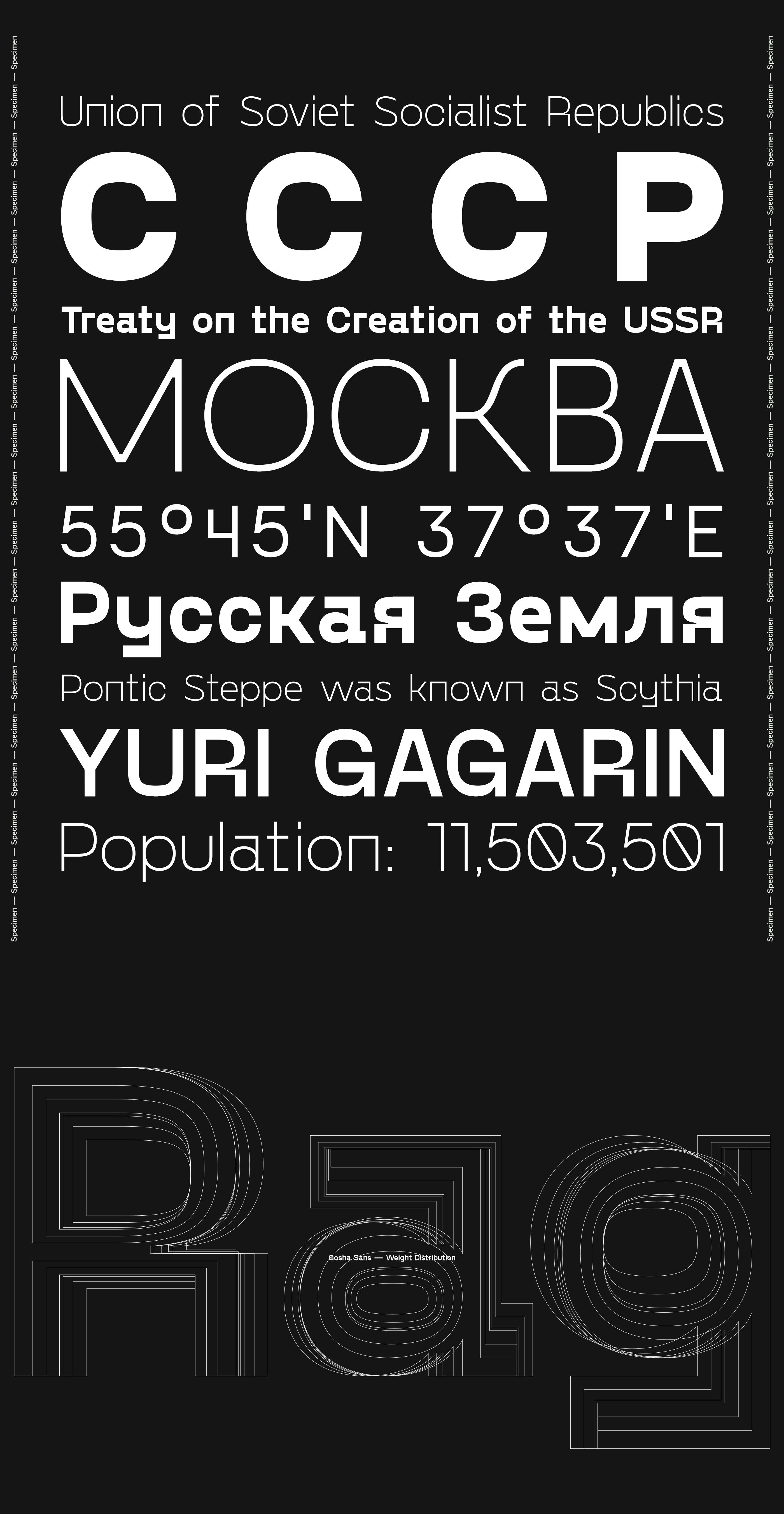 Gosha Sans / Гоша Без — Free Font on Behance