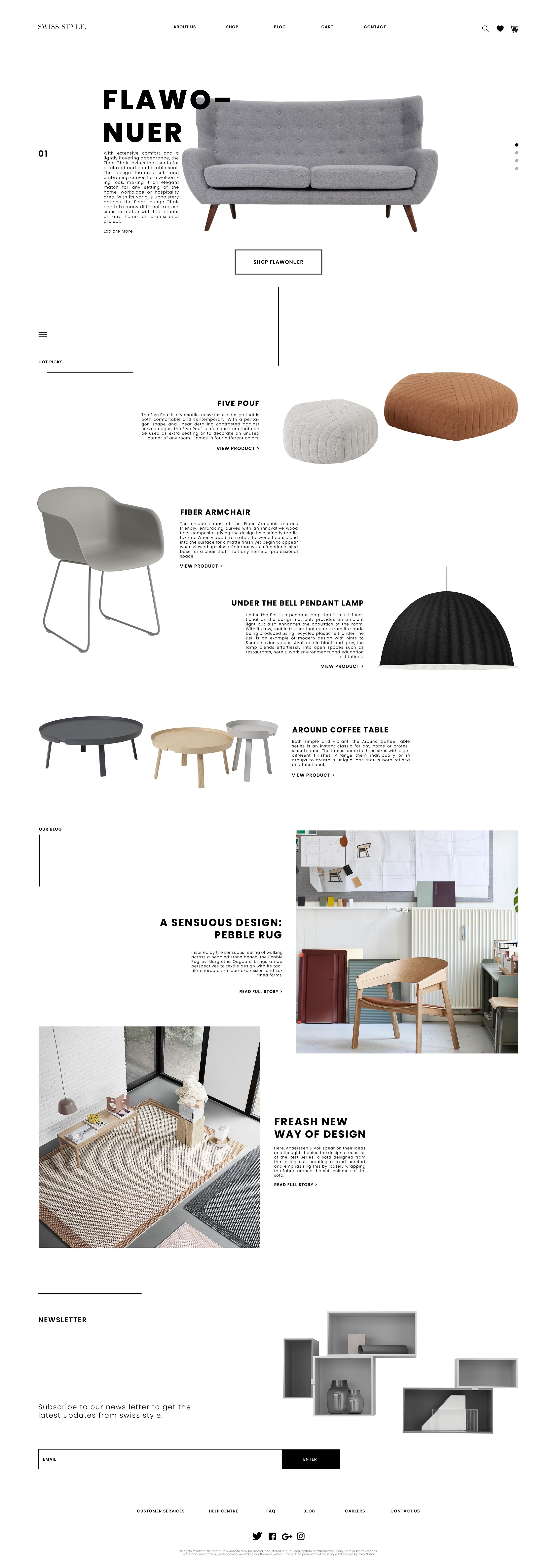 Swiss Style U2013 Website Design For Furniture Company On Behance