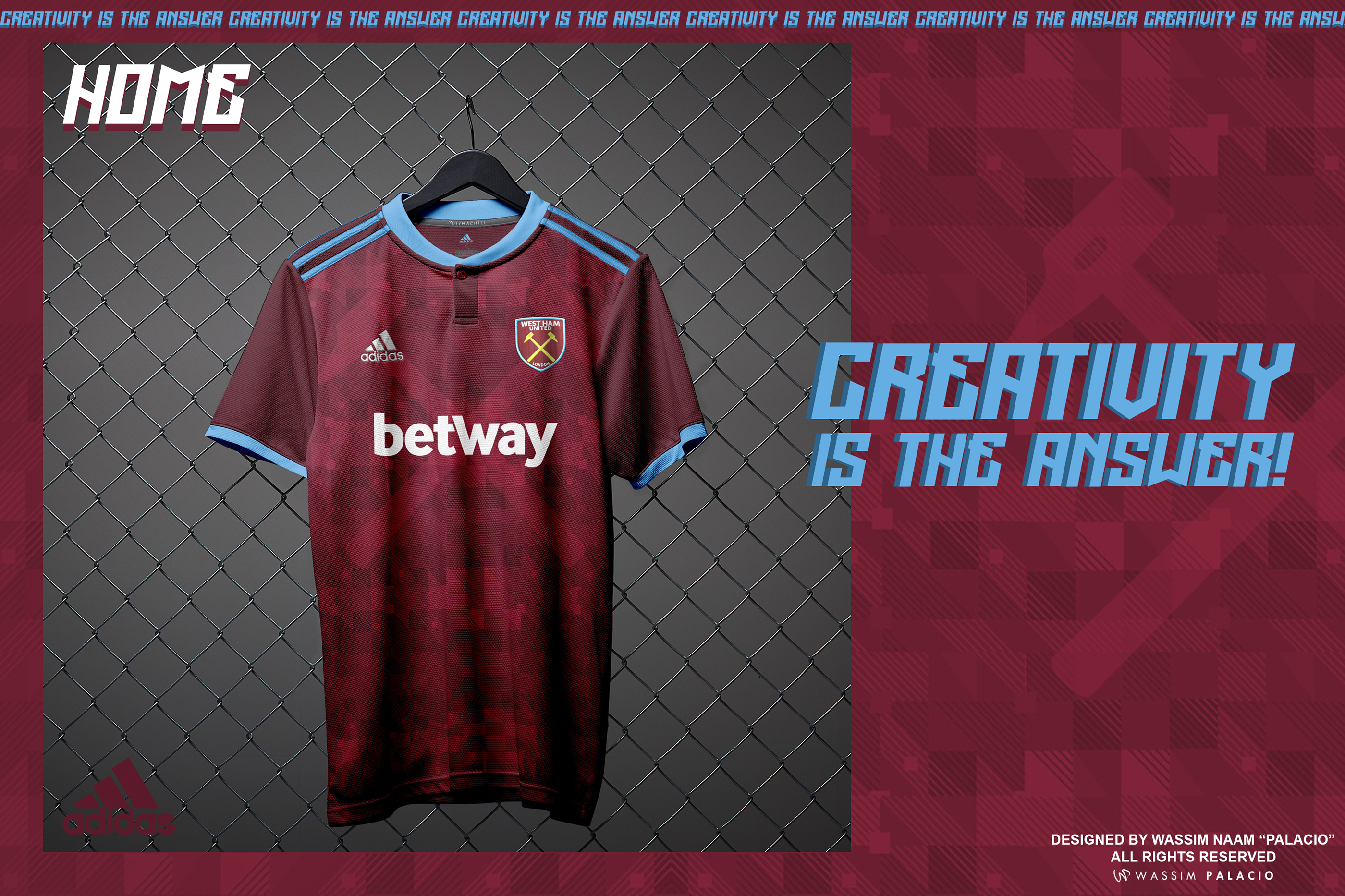 newest 8185a b32e2 Adidas 2018-19 | West Ham United Kits Concept . on Behance