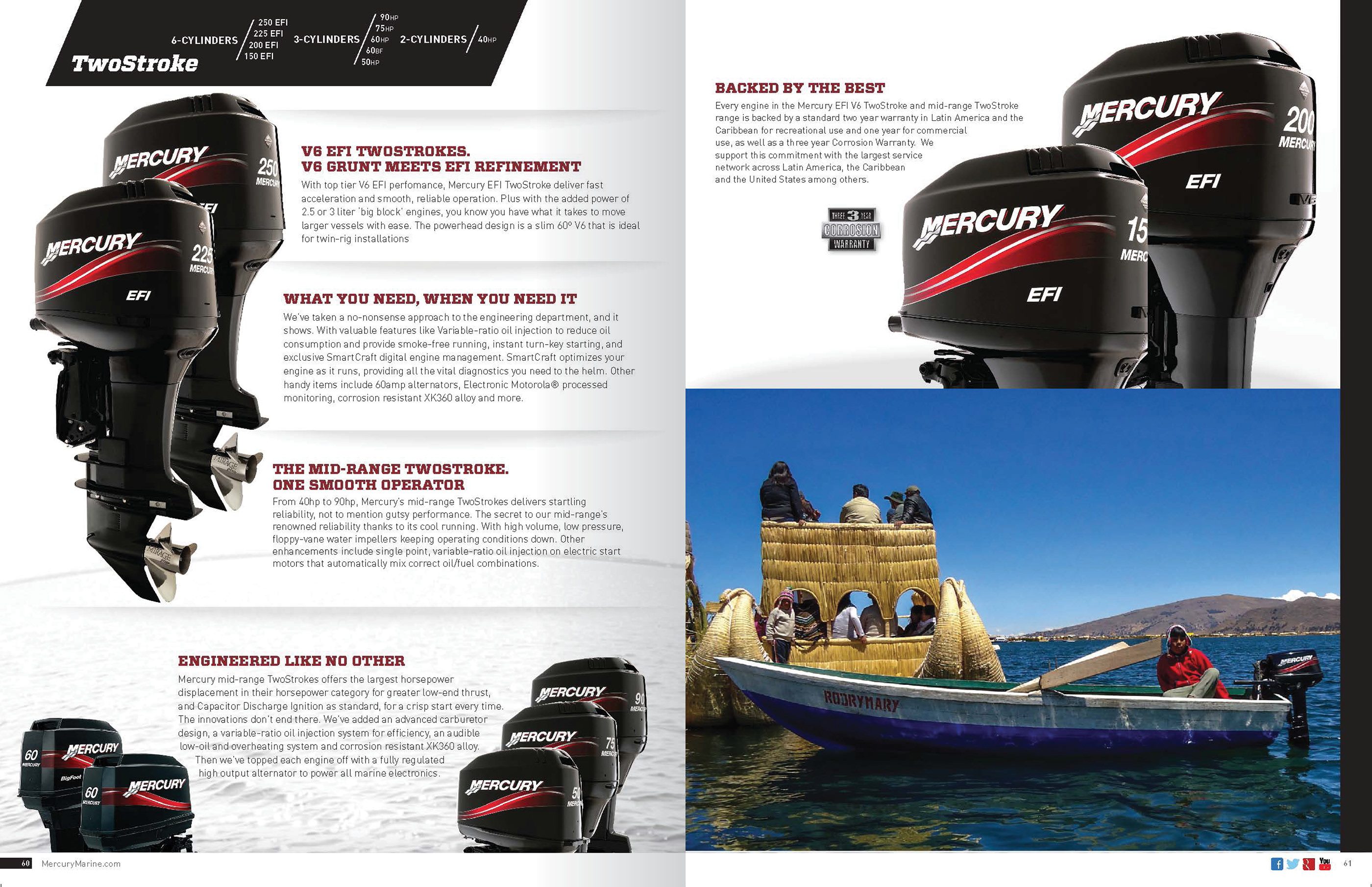 Mercury Marine - Outboard Brochure, Latin America on Behance