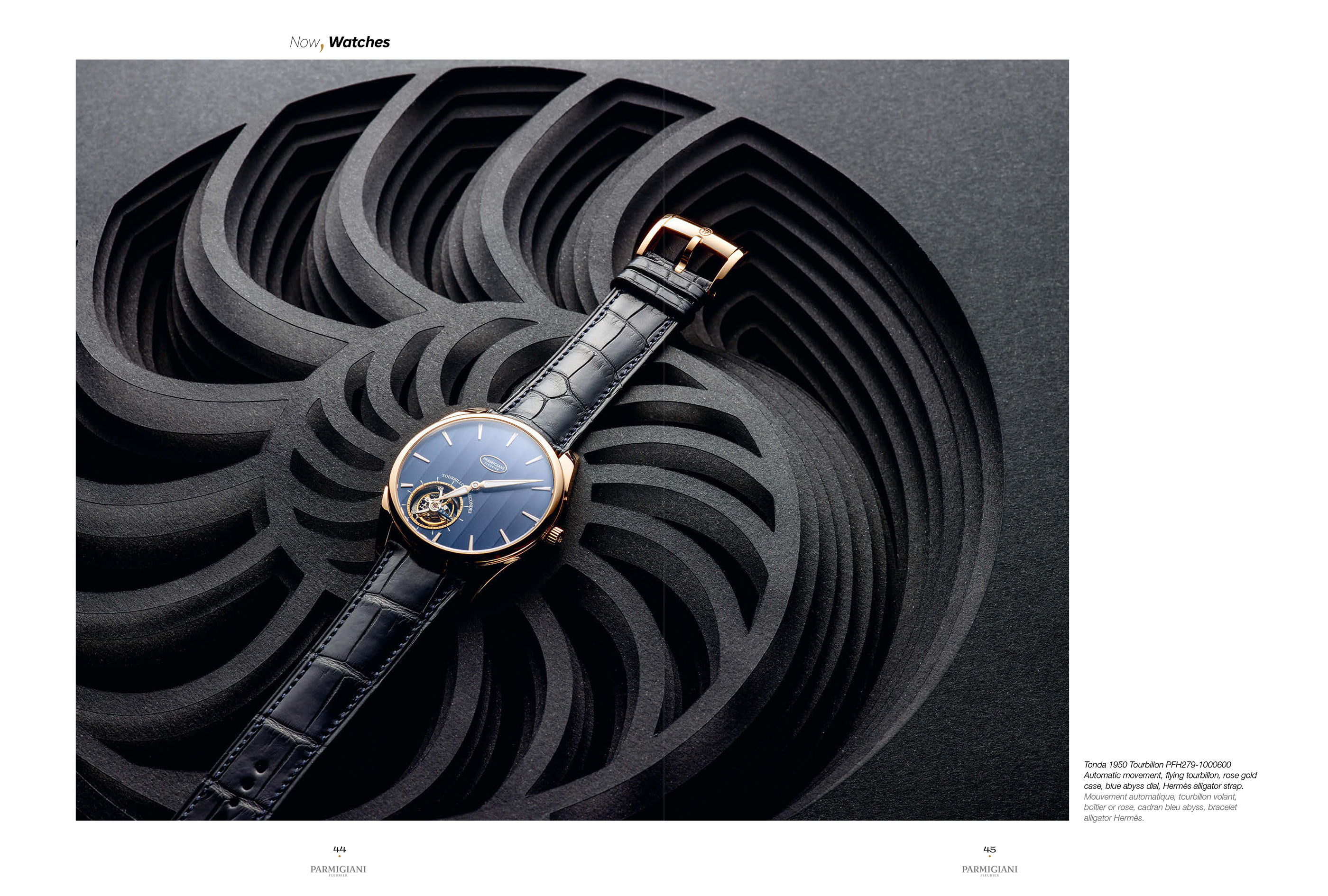 Set design & paper art for watch brand Parmigiani Fleurier