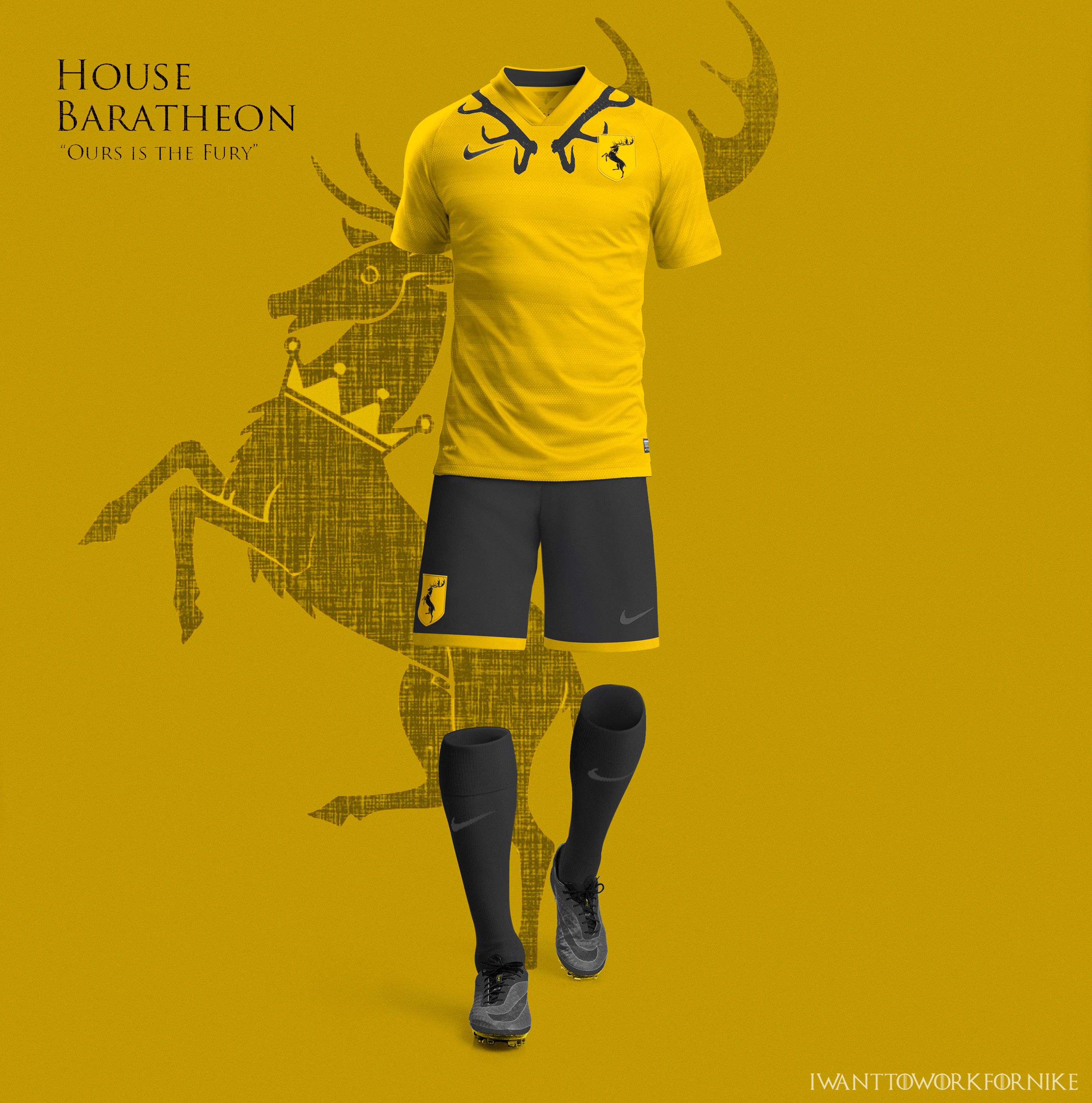 Game of Thrones World Cup Nike concepts on Behance