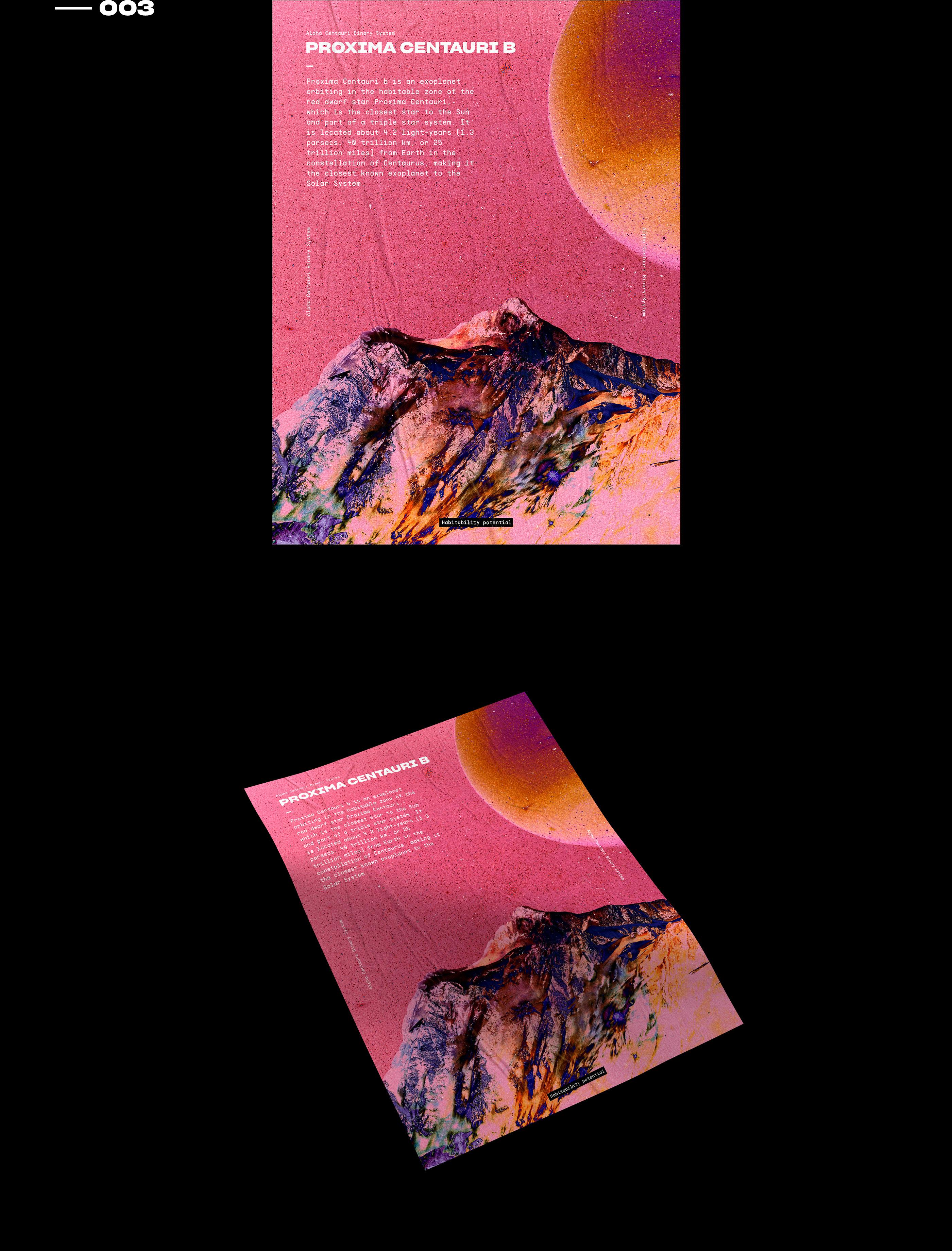 Interstellar Surface // Poster Series on Behance
