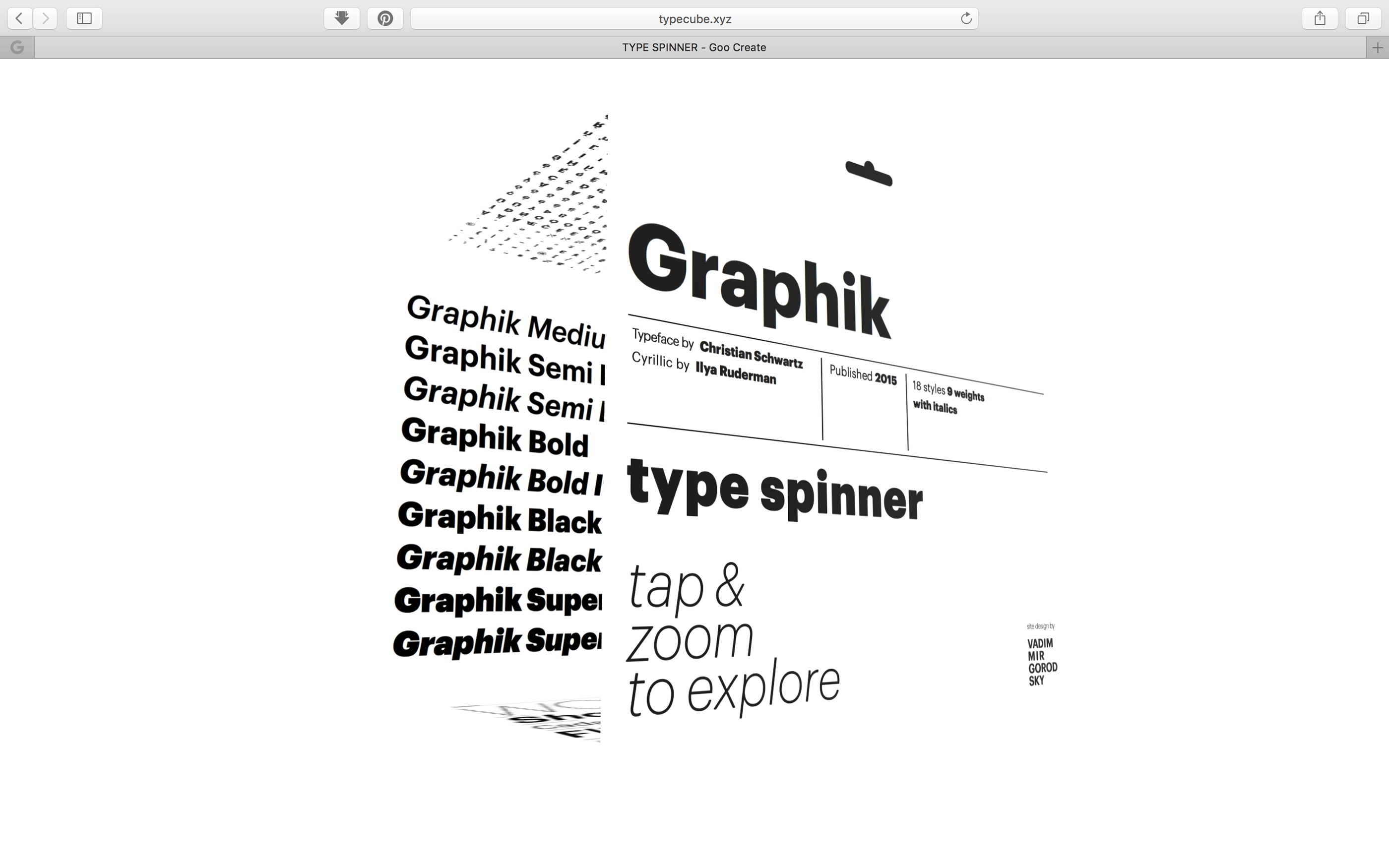 Type Spinner (for Graphik typeface) on Behance