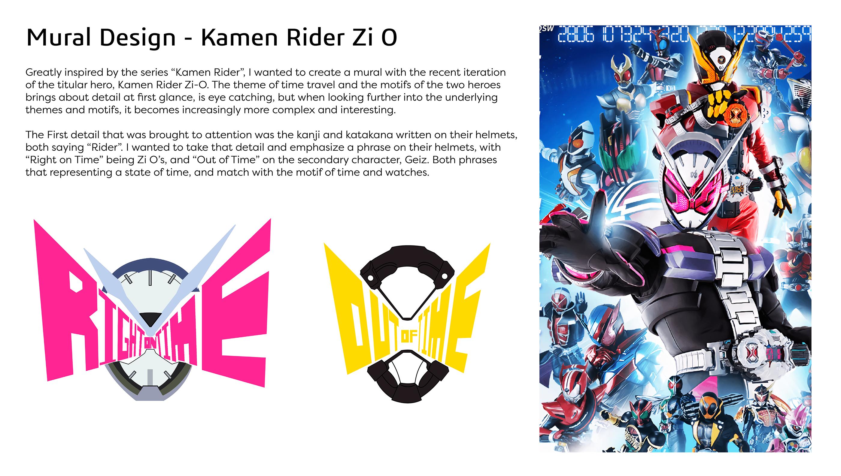 Wall Mural - Kamen Rider Zi O on Behance